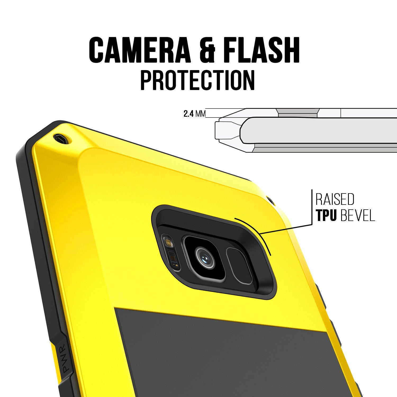 Galaxy S8+ Plus  Case, PUNKcase Metallic Neon Shockproof  Slim Metal Armor Case [Yellow]