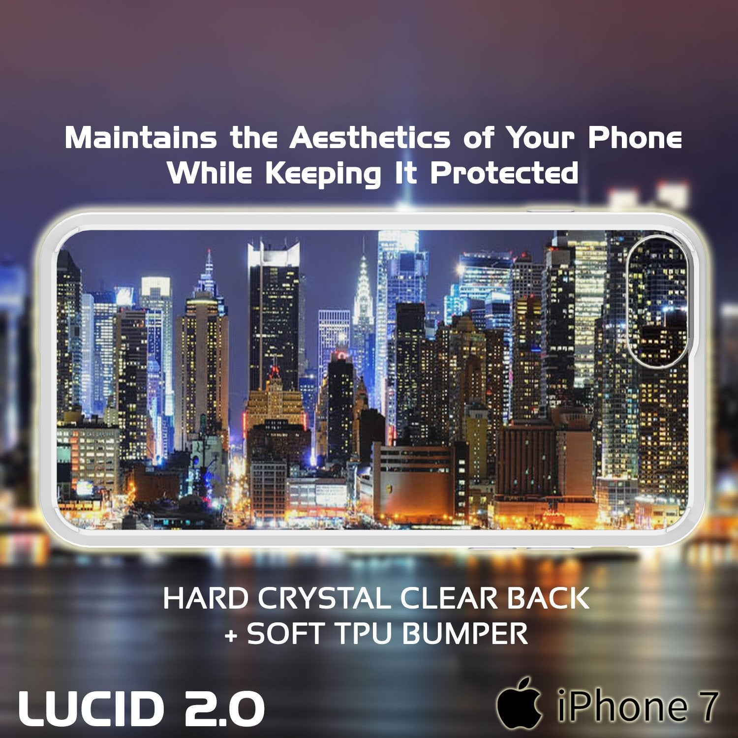 iPhone 8 Case Punkcase® LUCID 2.0 White Series w/ PUNK SHIELD Screen Protector | Ultra Fit