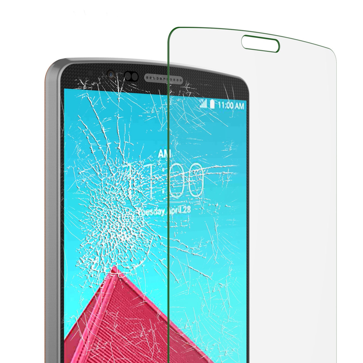 LG G4 Punkcase Glass SHIELD Tempered Glass Screen Protector 0.33mm Thick 9H Glass