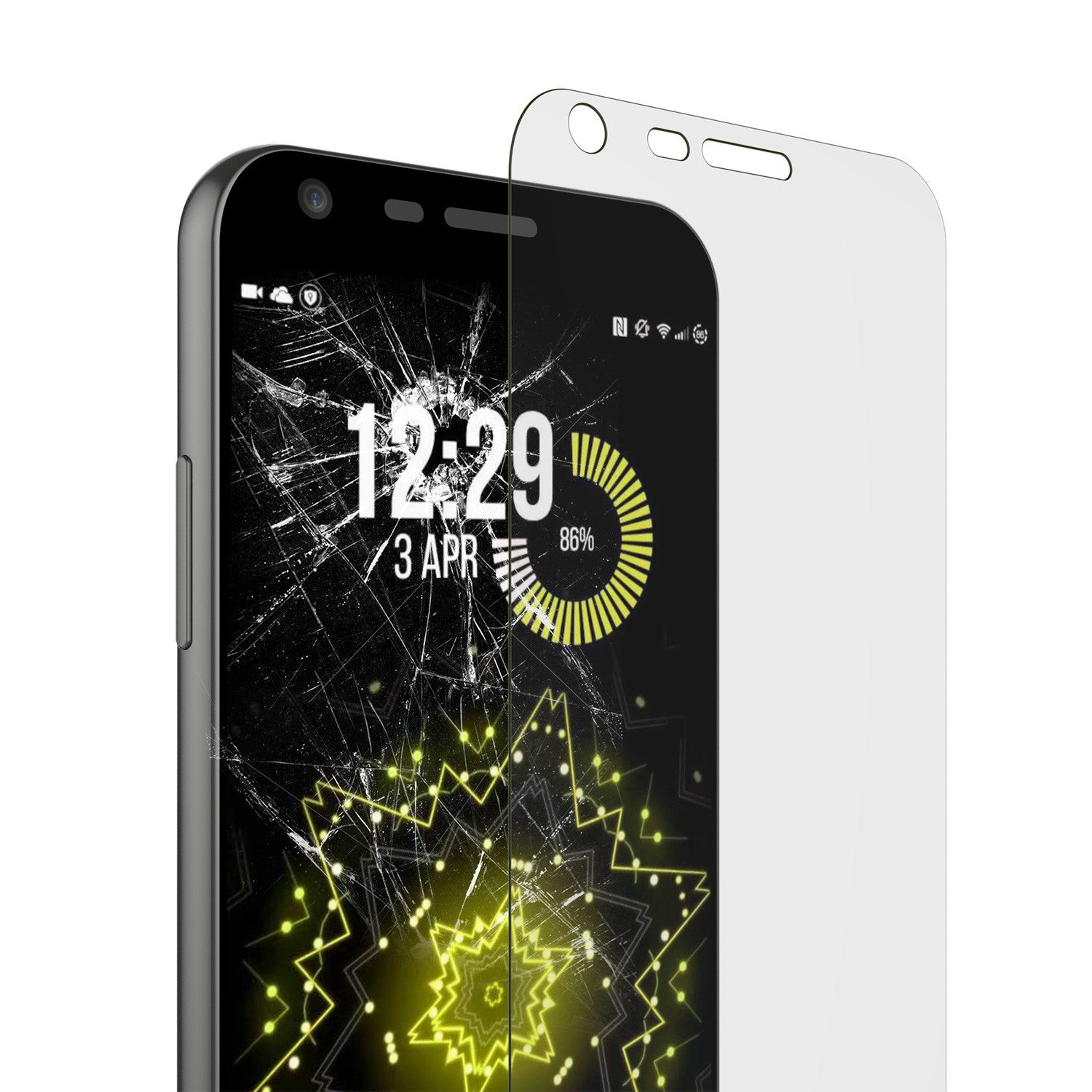 LG G5 Punkcase Glass SHIELD Tempered Glass Screen Protector 0.33mm Thick 9H Glass