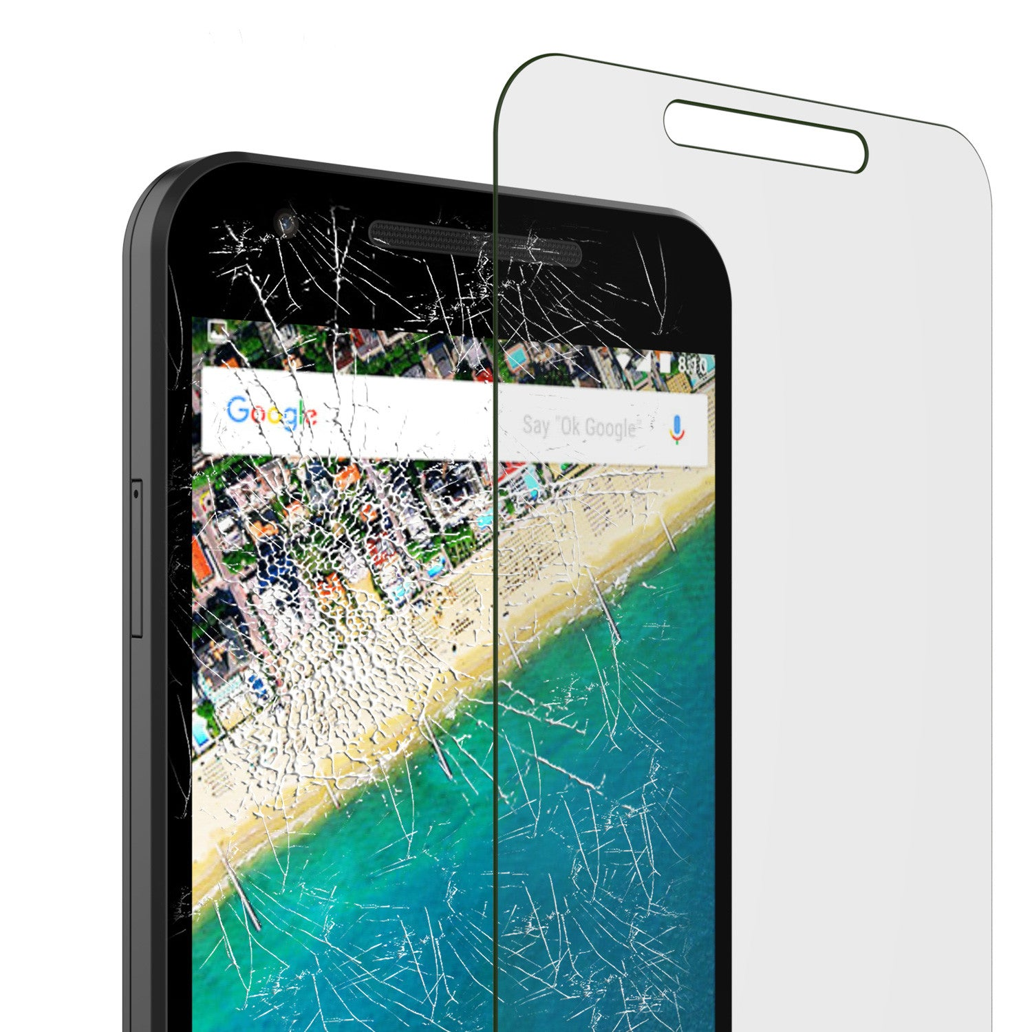 LG Nexus 5X Punkcase Glass SHIELD Tempered Glass Screen Protector 0.33mm Thick 9H Glass
