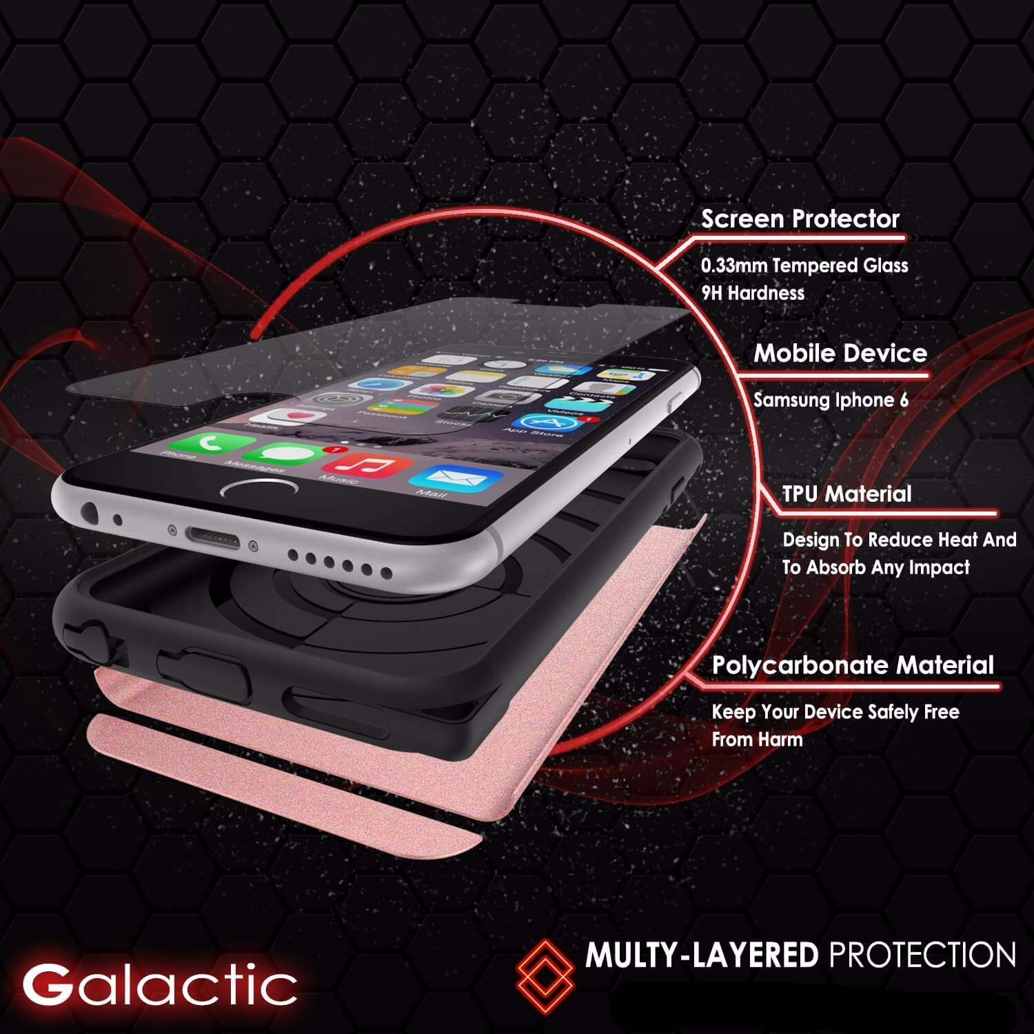iPhone 5s/5/SE Case PunkCase Galactic RoseGold Series Slim w/ Tempered Glass | Lifetime Warranty