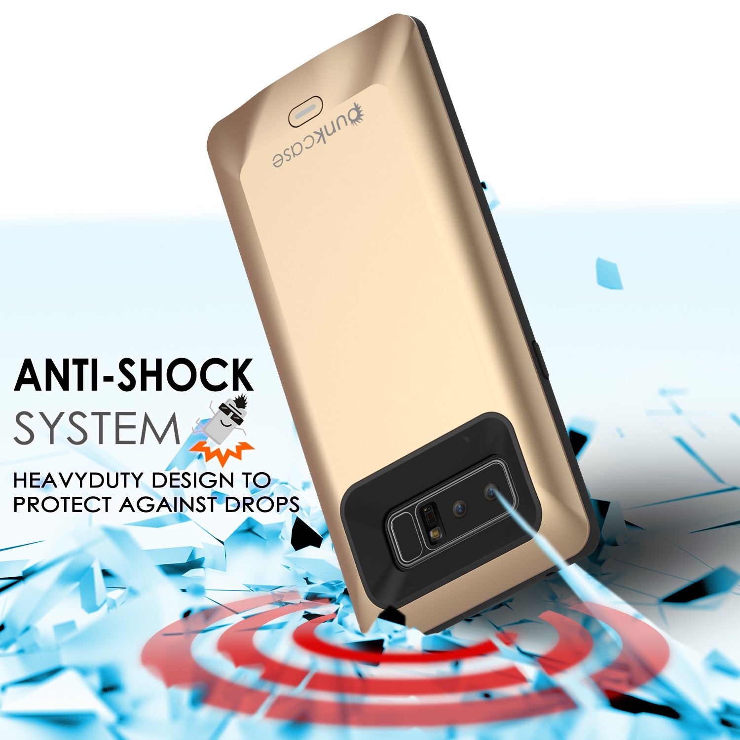 Galaxy Note 8 5000mAH Battery Charger W/ USB Port Slim Case [Gold]