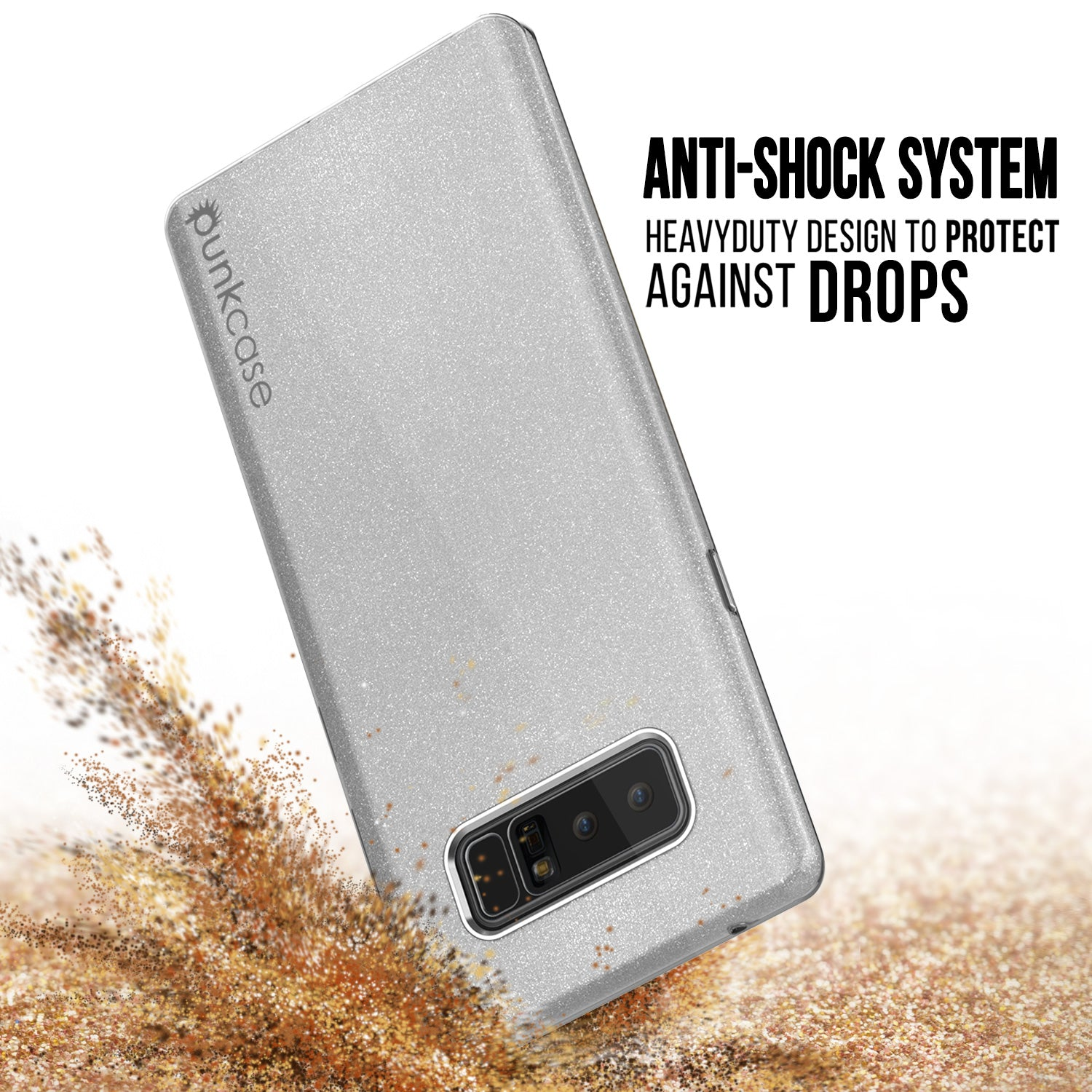 Galaxy Note 8  Punkcase Galactic 2.0 Series Ultra Slim Case [Silver]