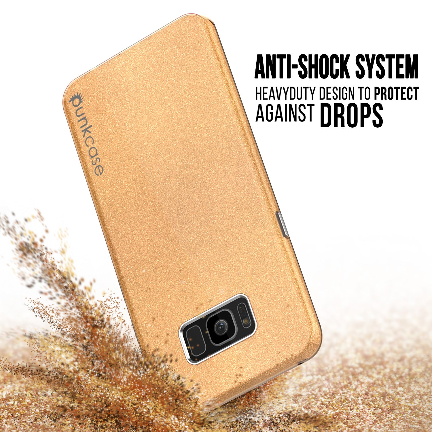 Galaxy S8 Plus Case, Punkcase Galactic 2.0 Series Ultra Slim Protective Armor TPU Cover [Gold]