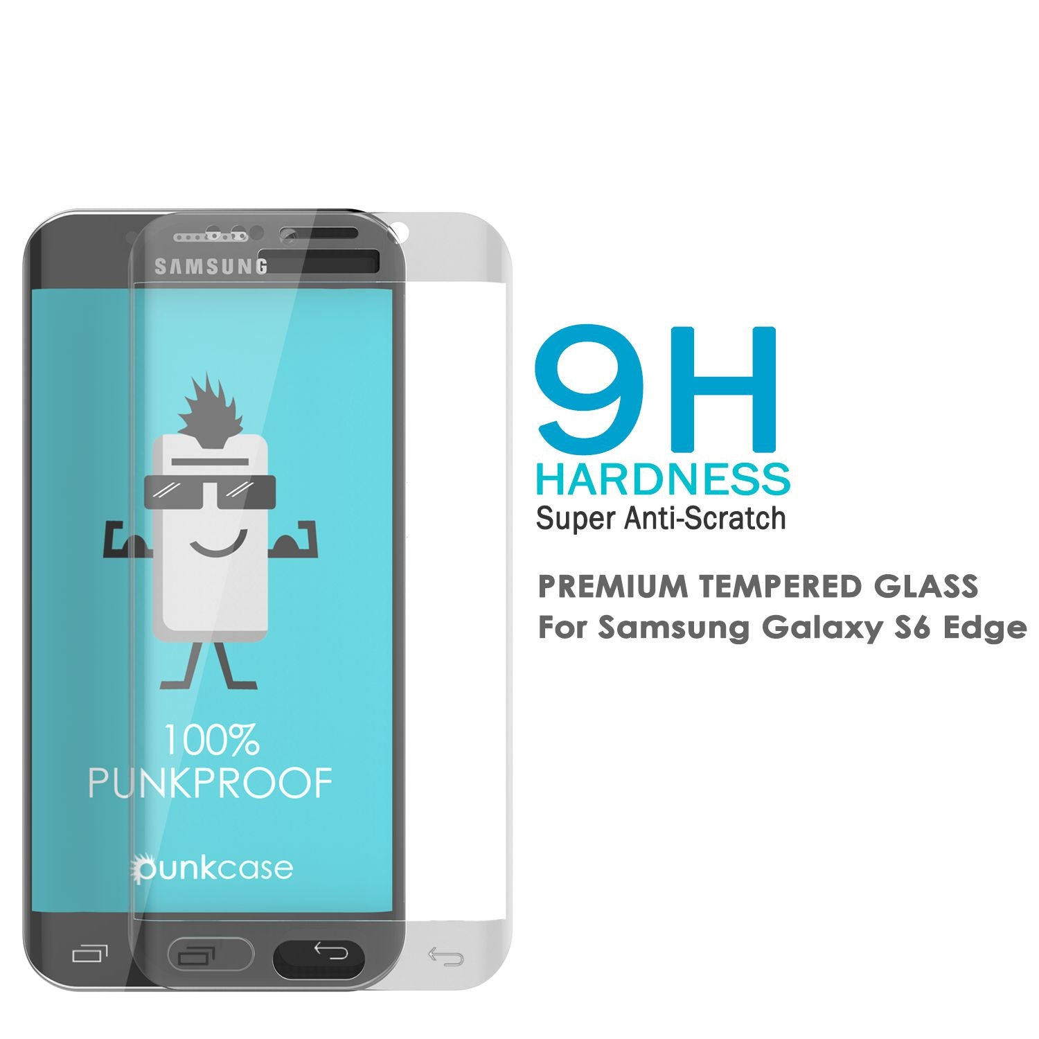 Galaxy S7 Clear Screen Protector, Punkcase Glass SHIELD Tempered Glass Protector 0.33mm Thick 9H