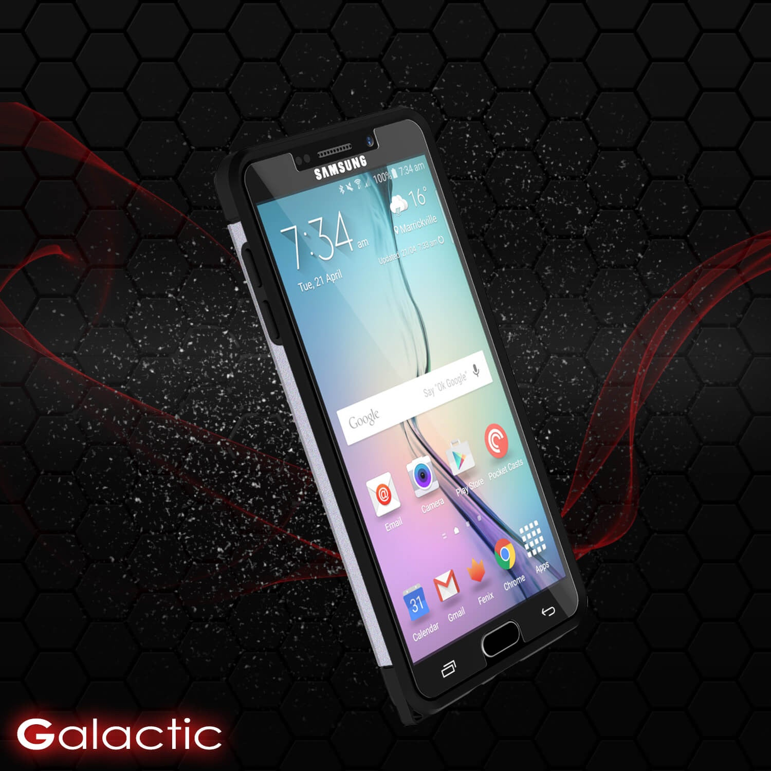 Galaxy Note 5 Case PunkCase Galactic SIlver Series Slim Armor Soft Cover Case w/ Tempered Glass