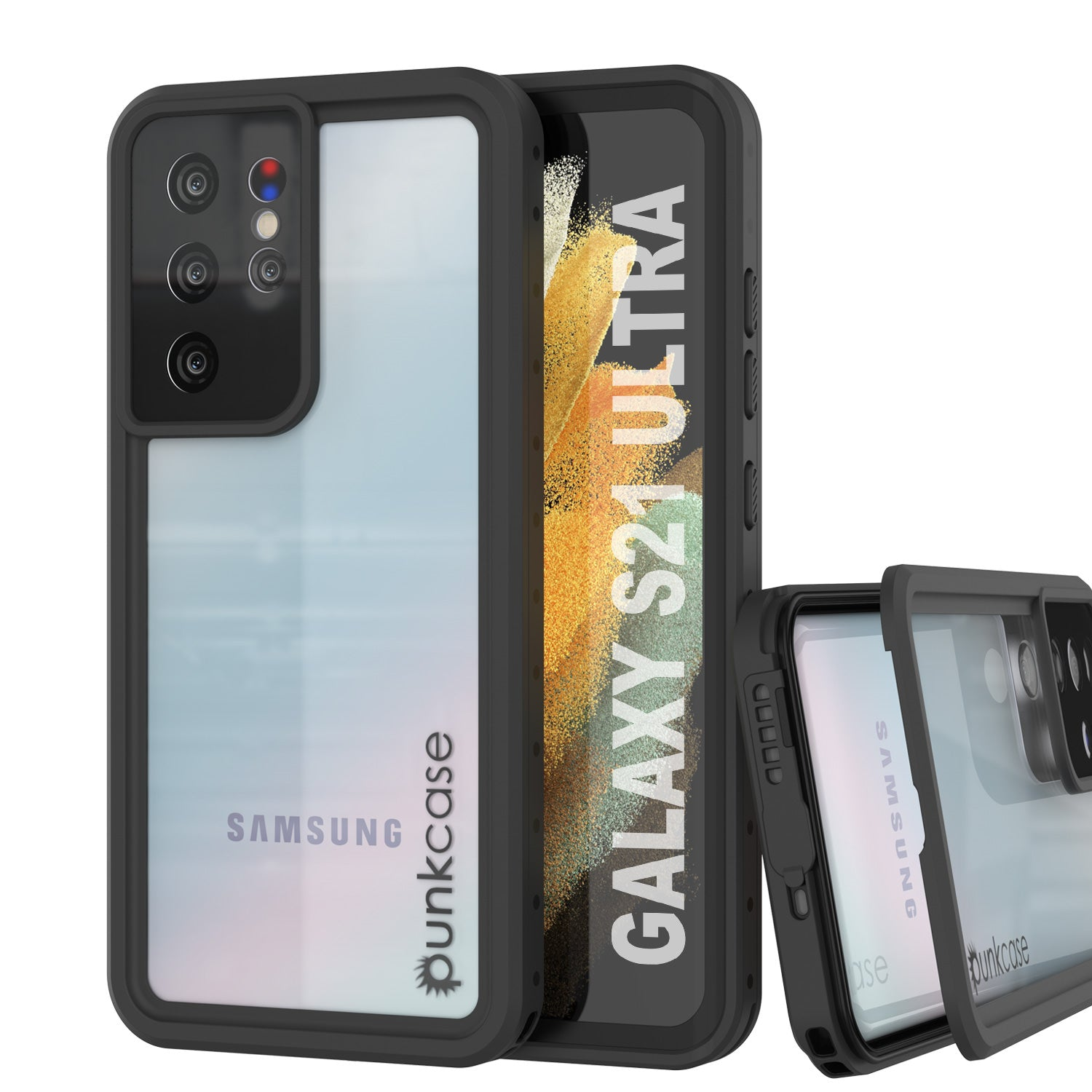 Galaxy S21 Ultra Waterproof Case PunkCase StudStar Clear Thin 6.6ft Underwater IP68 Shock/Snow Proof