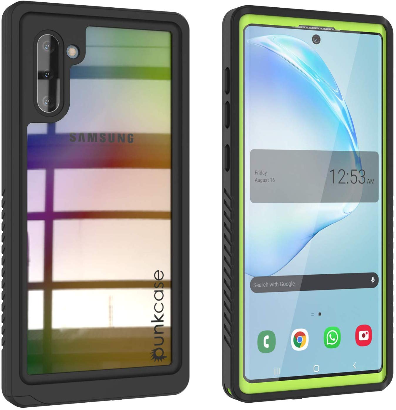 Galaxy Note 10 Case, Punkcase [Extreme Series] Armor Cover W/ Built In Screen Protector [Light Green]