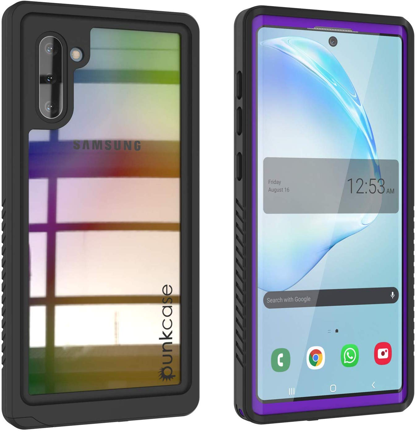 Galaxy Note 10 Case, Punkcase [Extreme Series] Armor Cover W/ Built In Screen Protector [Purple]