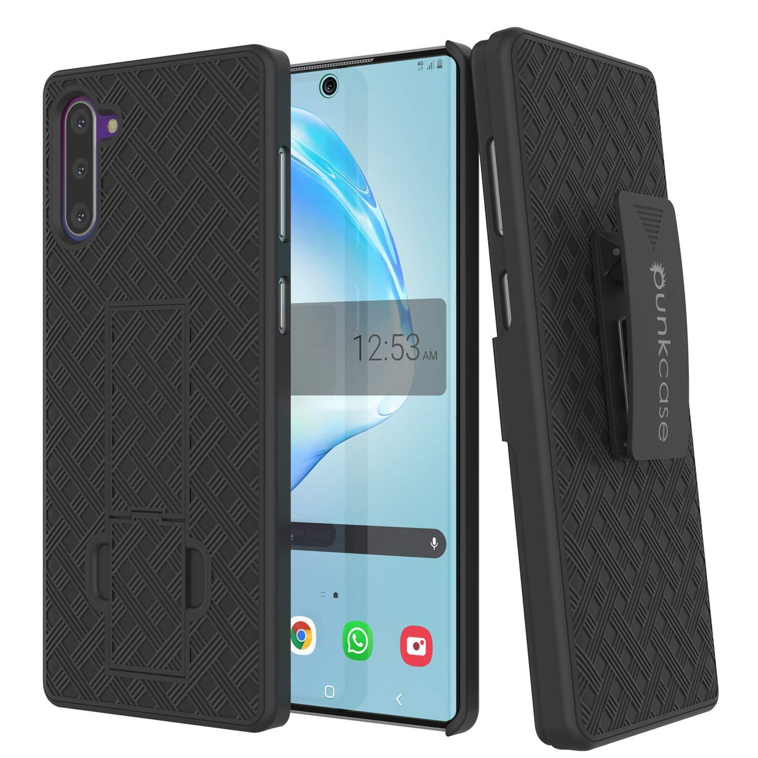 PunkCase Galaxy Note 20 Case with Screen Protector, Holster Belt Clip & Built-in Kickstand [Black]