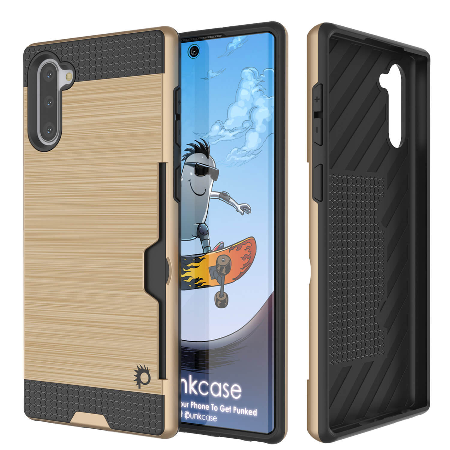 Galaxy Note 10+ Plus Case, PUNKcase [SLOT Series] Slim Fit  Samsung Note 10+ Plus [Gold]