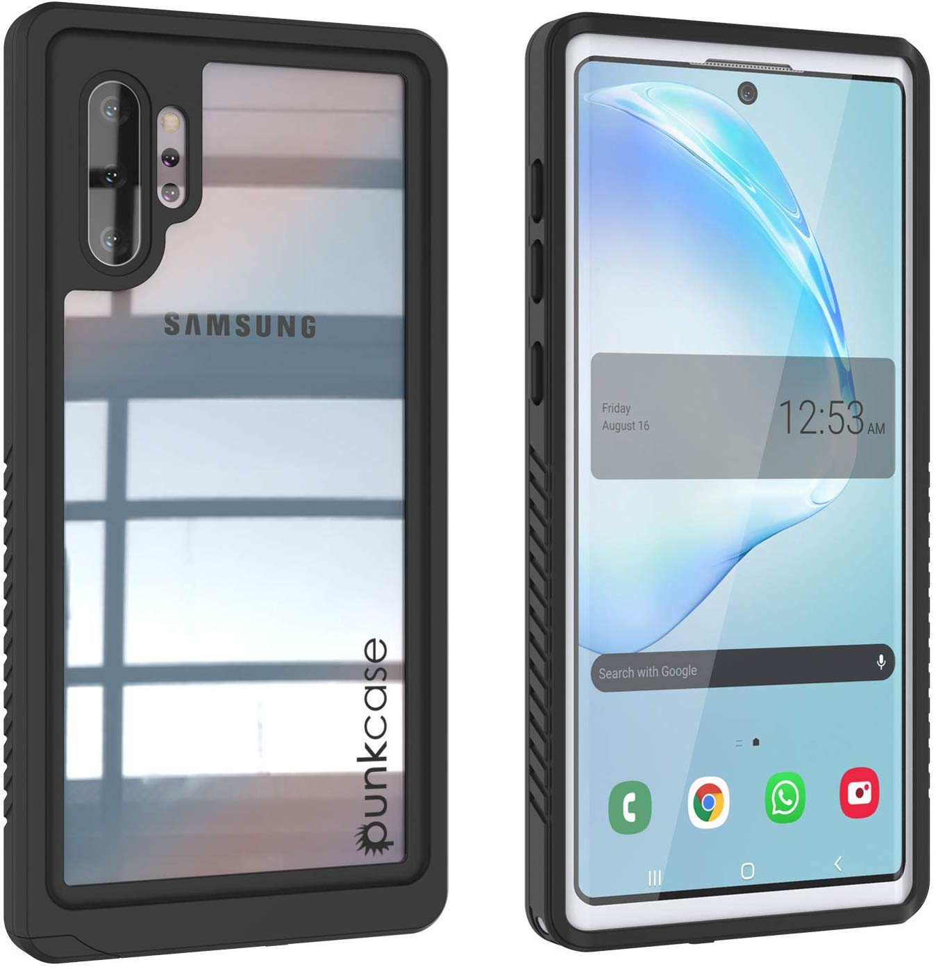 Galaxy Note 10+ Plus Case, Punkcase [Extreme Series] Armor Cover W/ Built In Screen Protector [White]