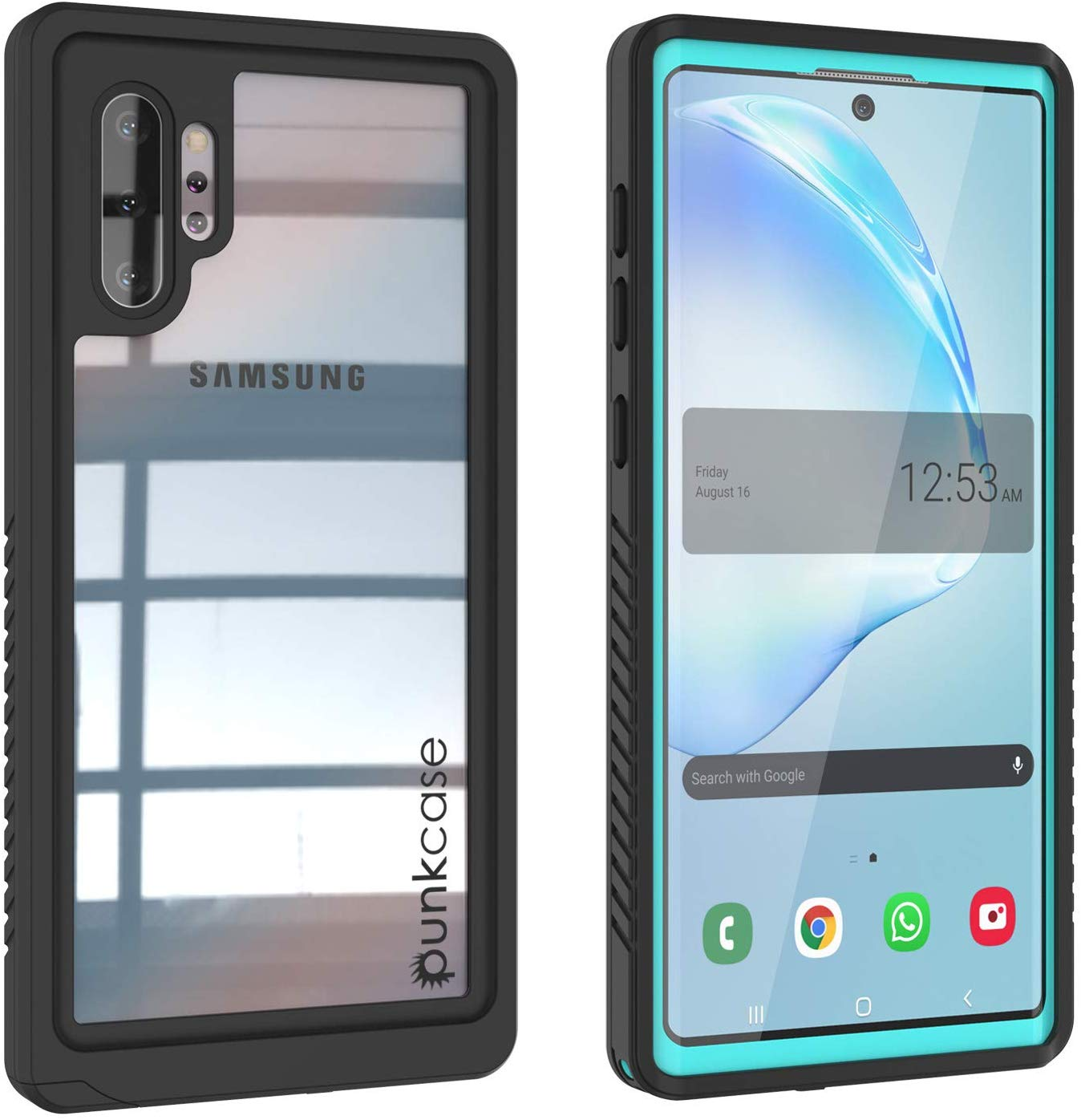 Galaxy Note 10+ Plus Case, Punkcase [Extreme Series] Armor Cover W/ Built In Screen Protector [Teal]