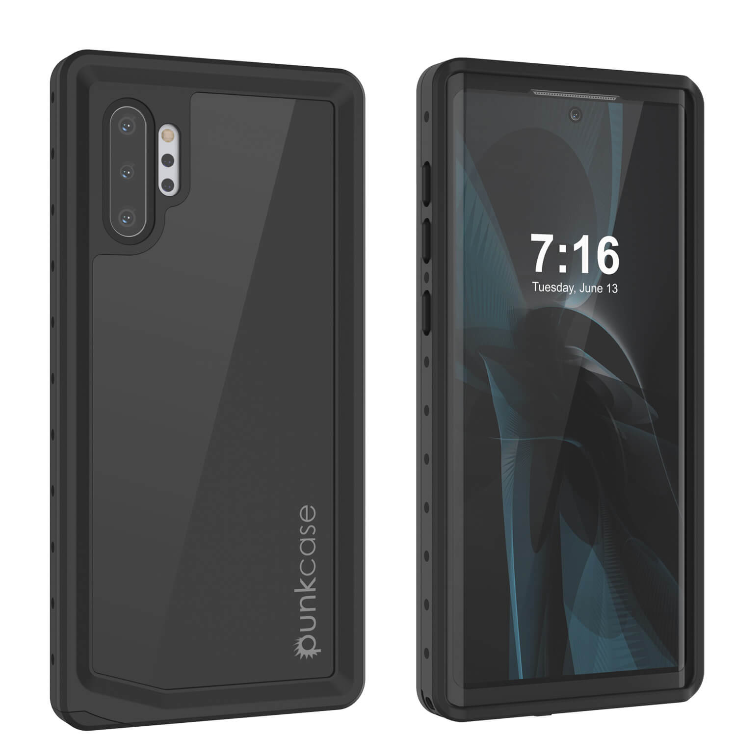 ***PRE-ORDER*** Galaxy Note 10+ Plus Waterproof Case, Punkcase Studstar Black Thin Armor Cover
