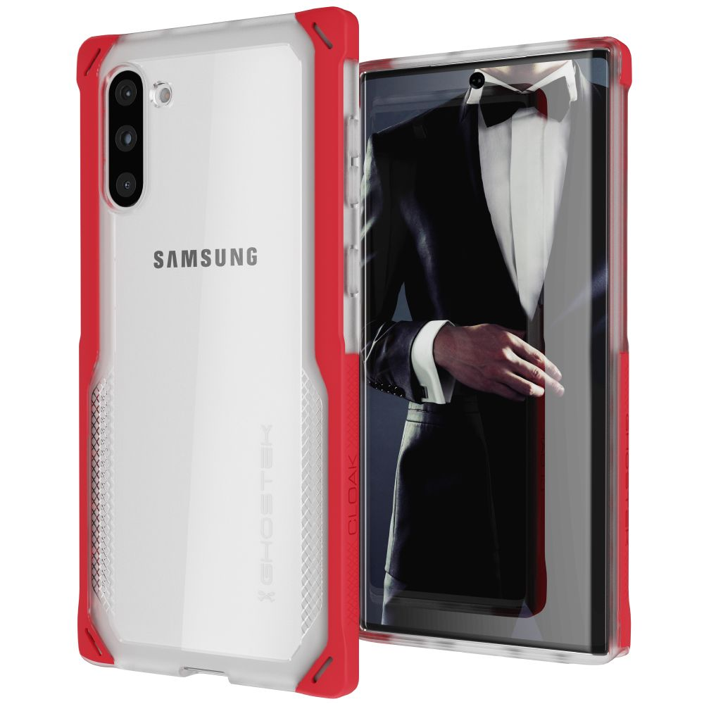 CLOAK 4 for Galaxy Note 10 Shockproof Hybrid Case [Red]