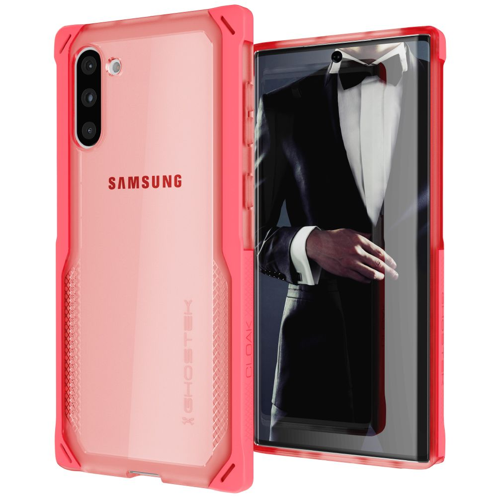 CLOAK 4 for Galaxy Note 10 Shockproof Hybrid Case [Pink]