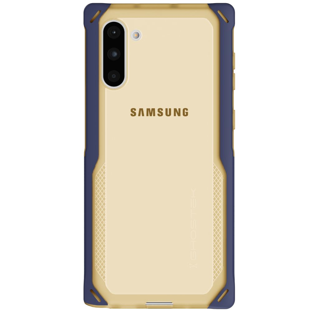CLOAK 4 for Galaxy Note 10 Shockproof Hybrid Case [Blue-Gold]