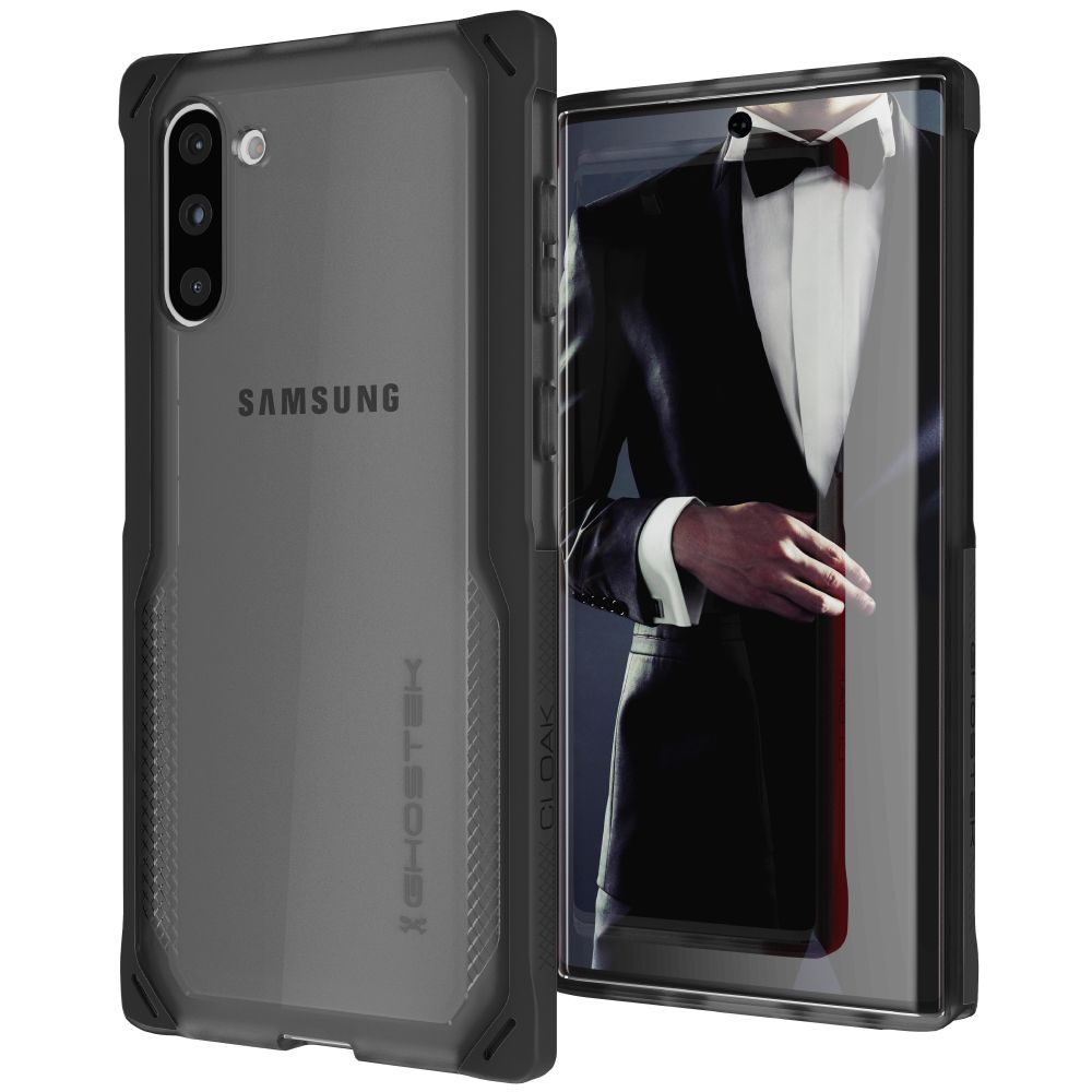CLOAK 4 for Galaxy Note 10+ Plus Shockproof Hybrid Case [Black]