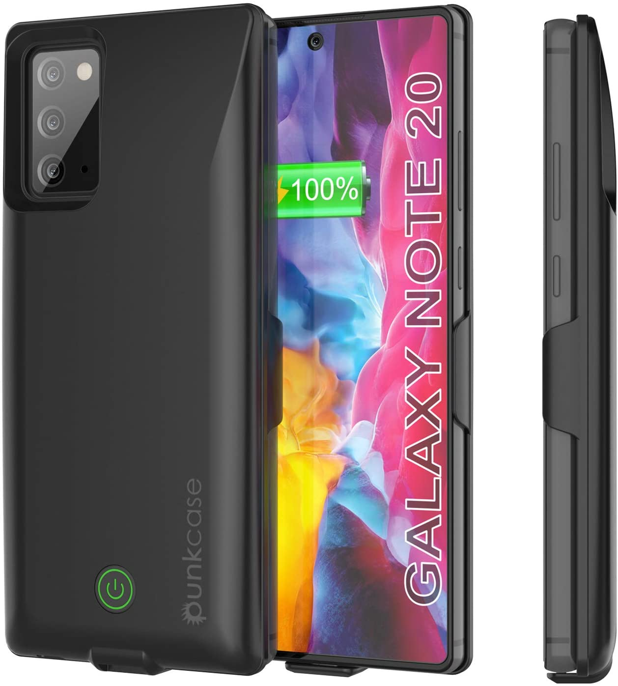 Galaxy Note 20 6000mAH Battery Charger PunkJuice 2.0 Slim Case [Black]
