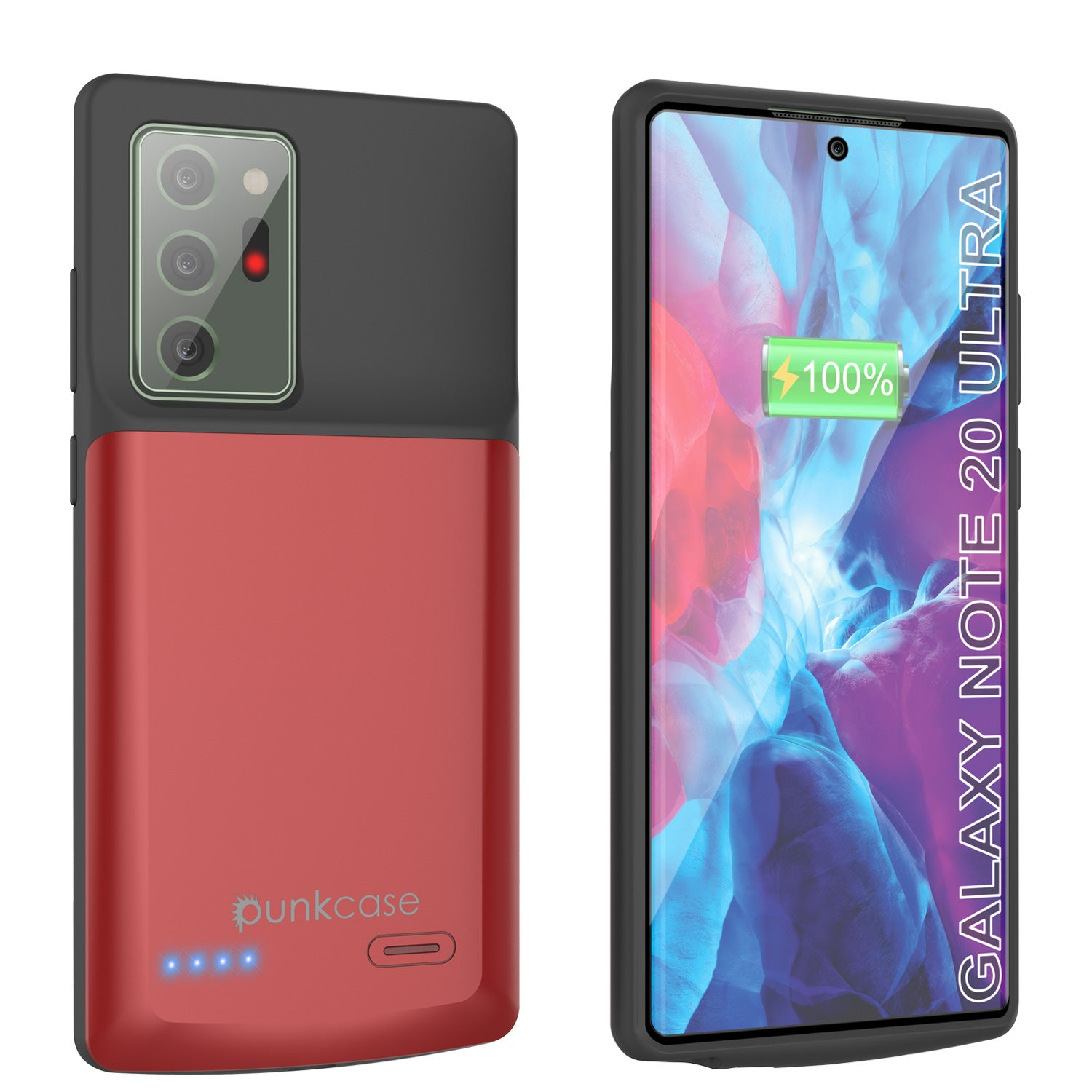 Galaxy Note 20 Ultra 6000mAH Battery Charger Slim Case [Red]
