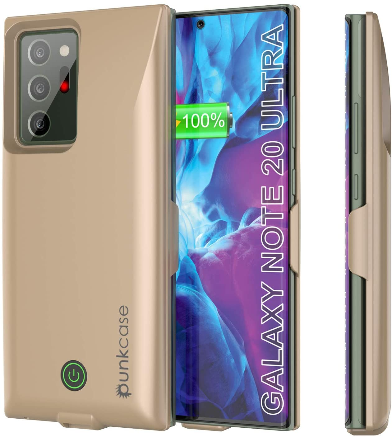 Galaxy Note 20 Ultra 6000mAH Battery Charger PunkJuice 2.0 Slim Case [Gold]