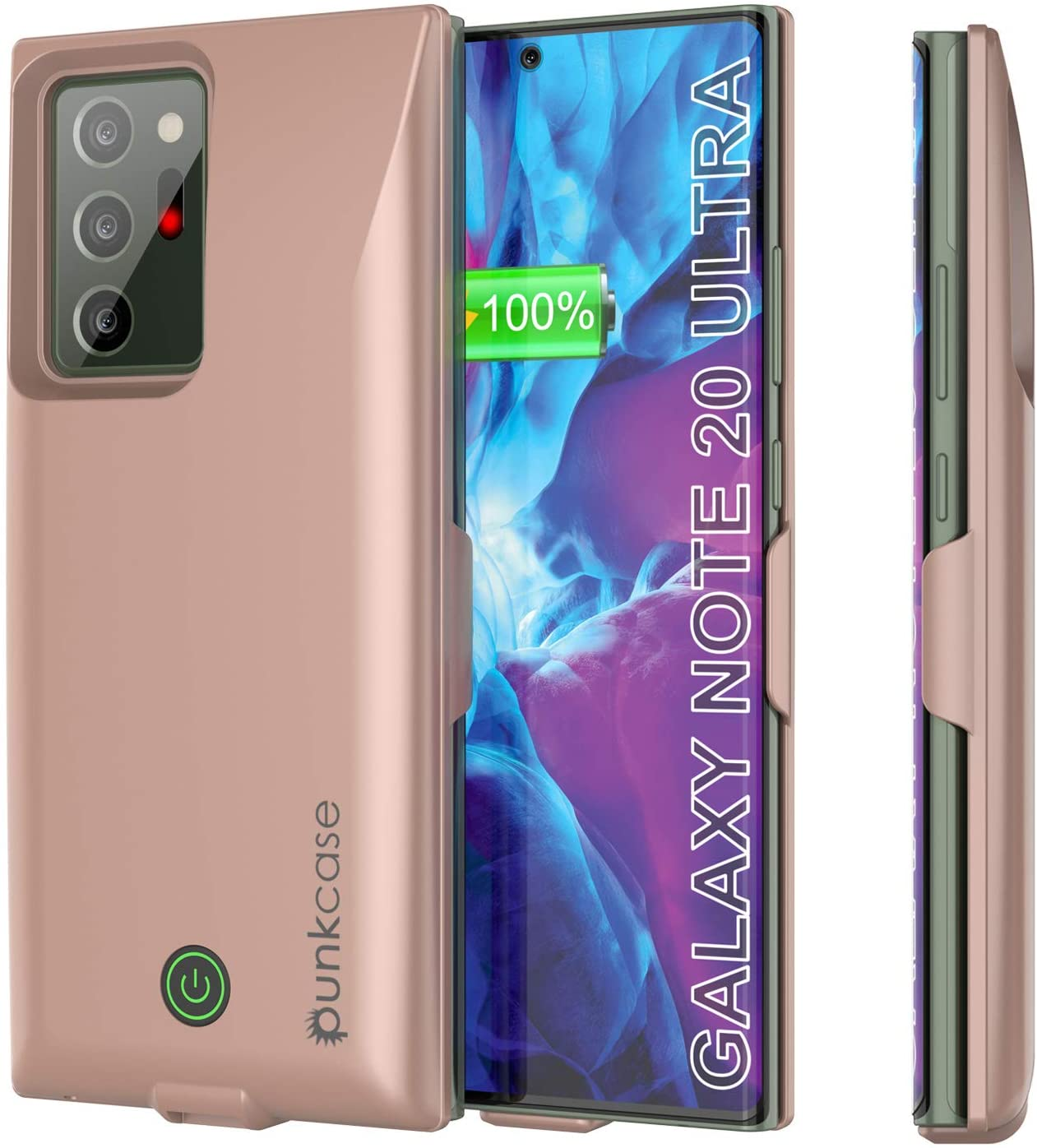 Galaxy Note 20 Ultra 6000mAH Battery Charger PunkJuice 2.0 Slim Case [Rose-Gold]