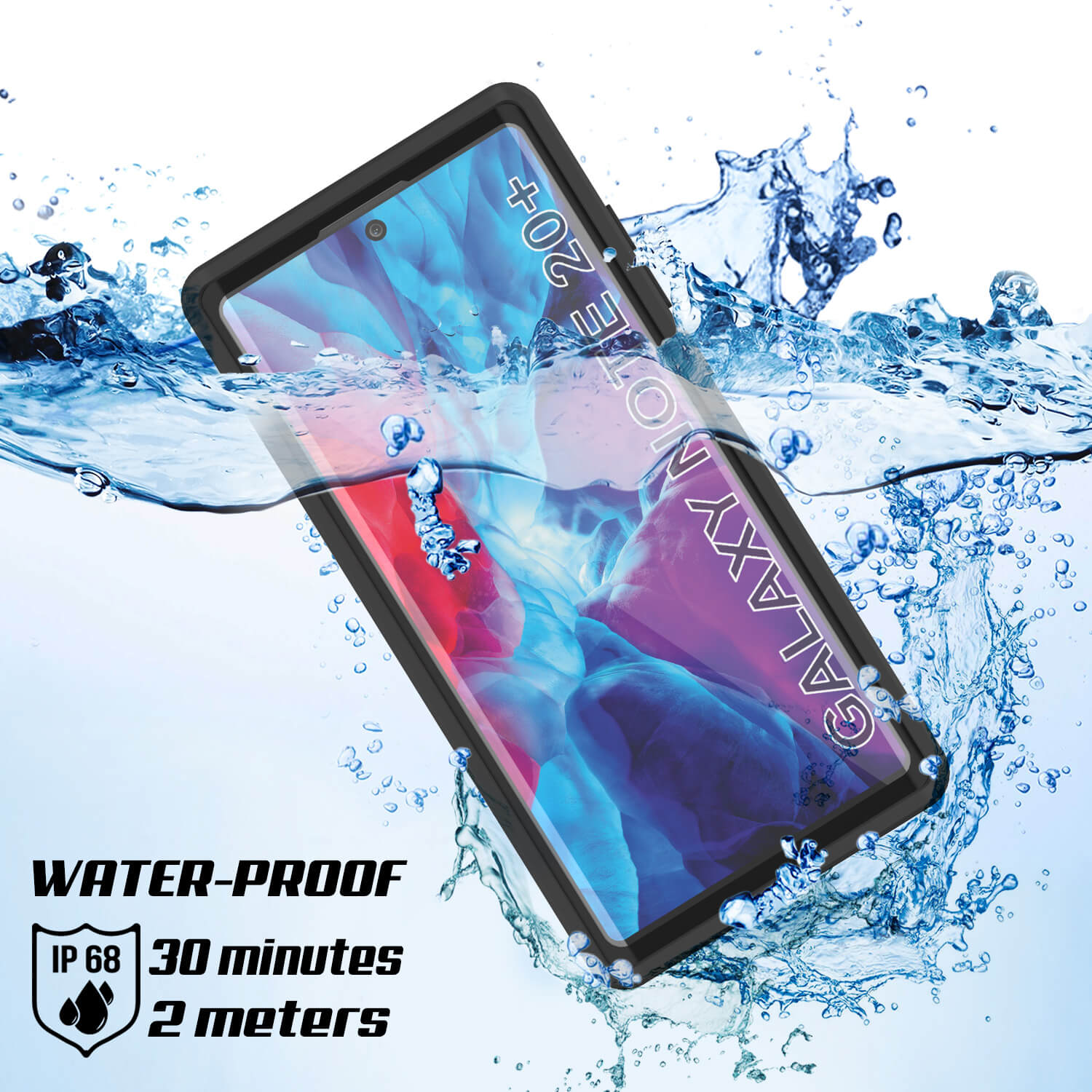Galaxy Note 20 Ultra Waterproof Case, Punkcase Studstar Clear Thin Armor Cover