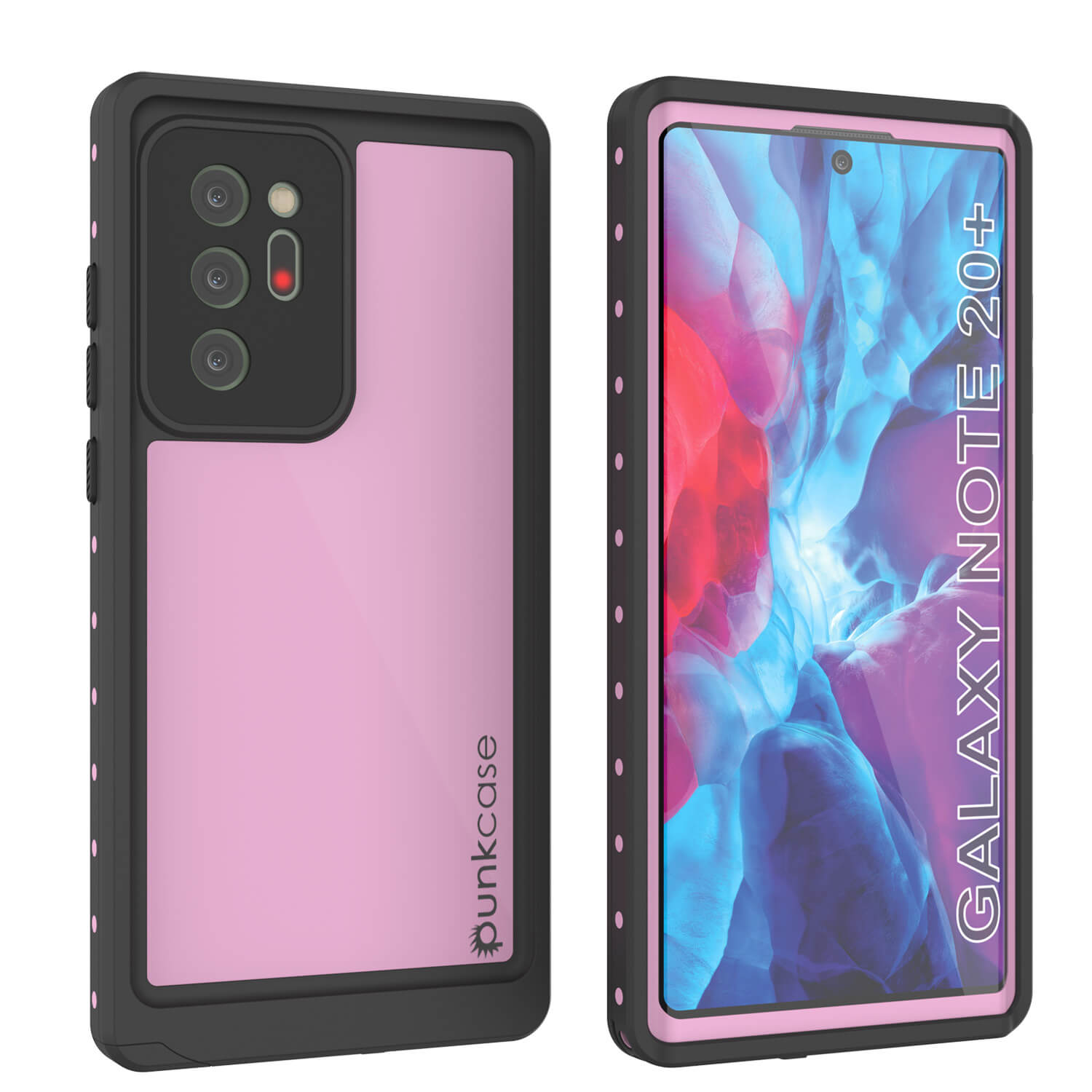 Galaxy Note 20 Ultra Waterproof Case, Punkcase Studstar Pink Thin Armor Cover