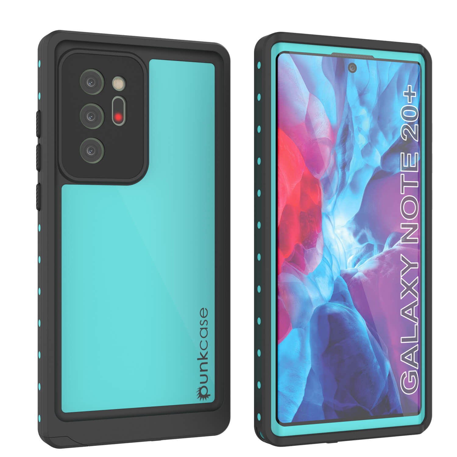 Galaxy Note 20 Ultra Waterproof Case, Punkcase Studstar Series Teal Thin Armor Cover