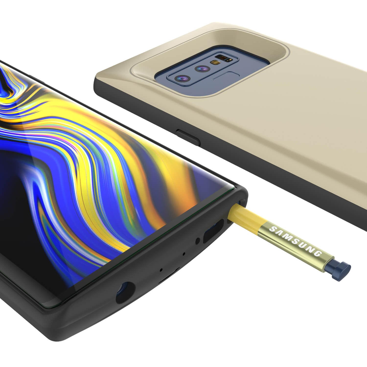 Galaxy Note 9 5000mAH Battery Charger W/ USB Port Slim Case [Gold]