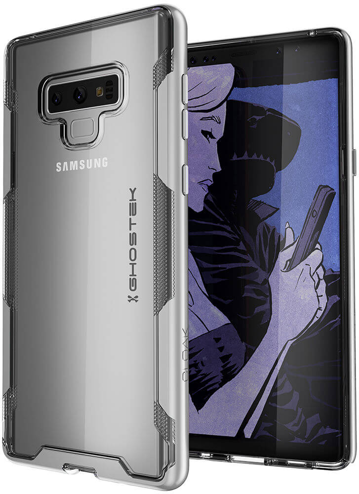 Galaxy Note 9 Case, Ghostek Cloak 3 Full Body TPU [Shockproof] | SILVER