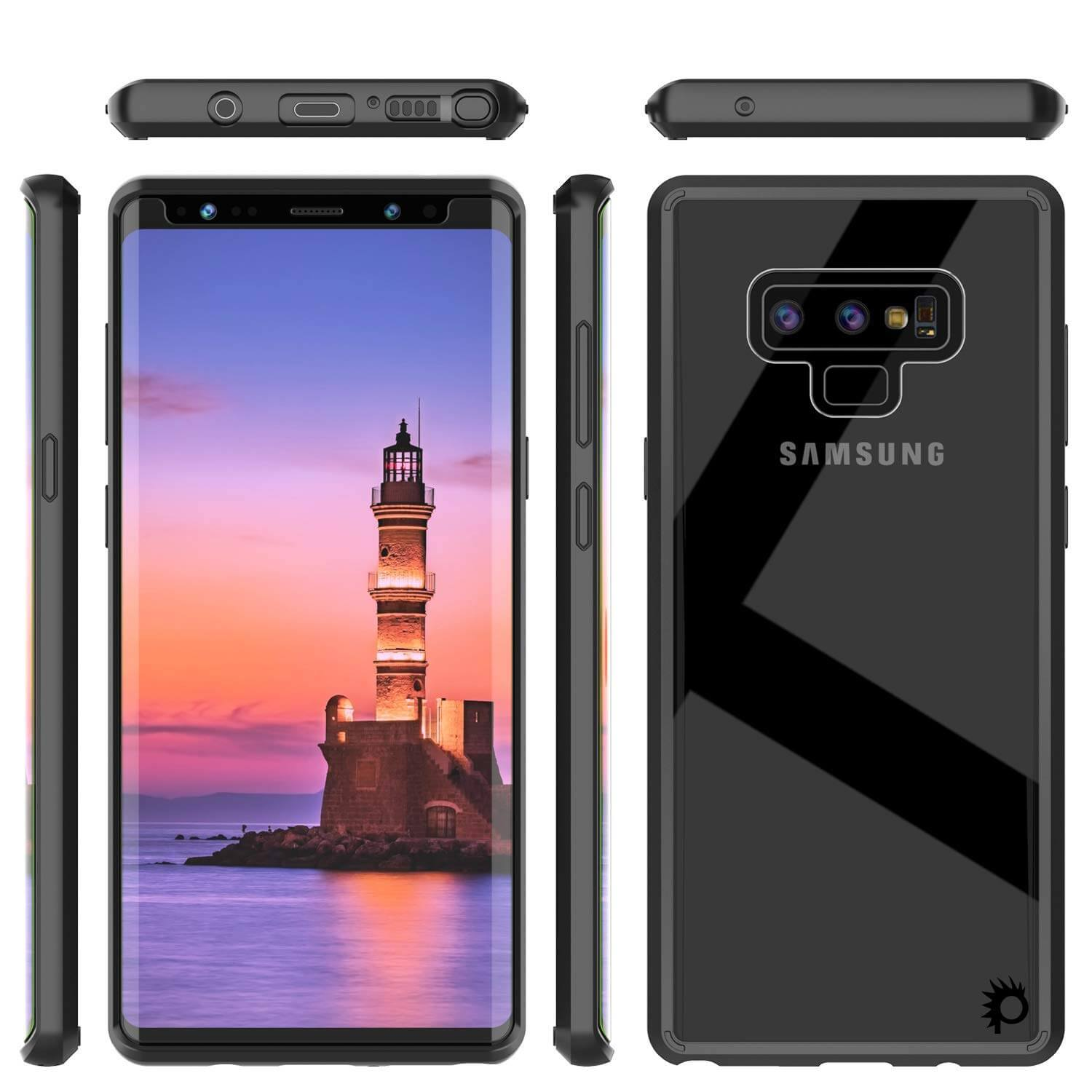 Galaxy Note 9 Punkcase Lucid-2.0 Series Slim Fit Armor Black Case Cover