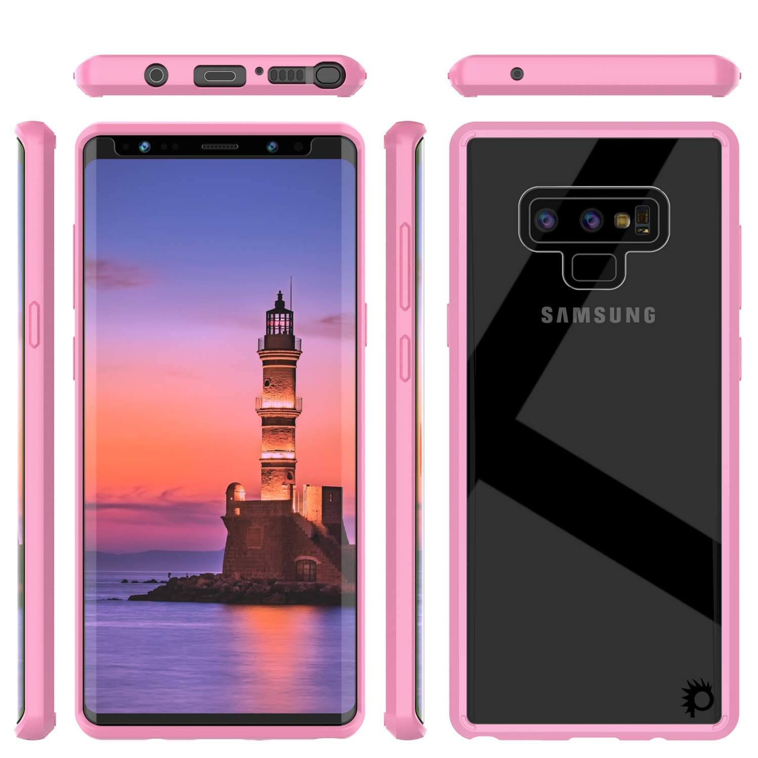 Galaxy Note 9 Punkcase Lucid-2.0 Series Slim Fit Armor Pink Case Cover