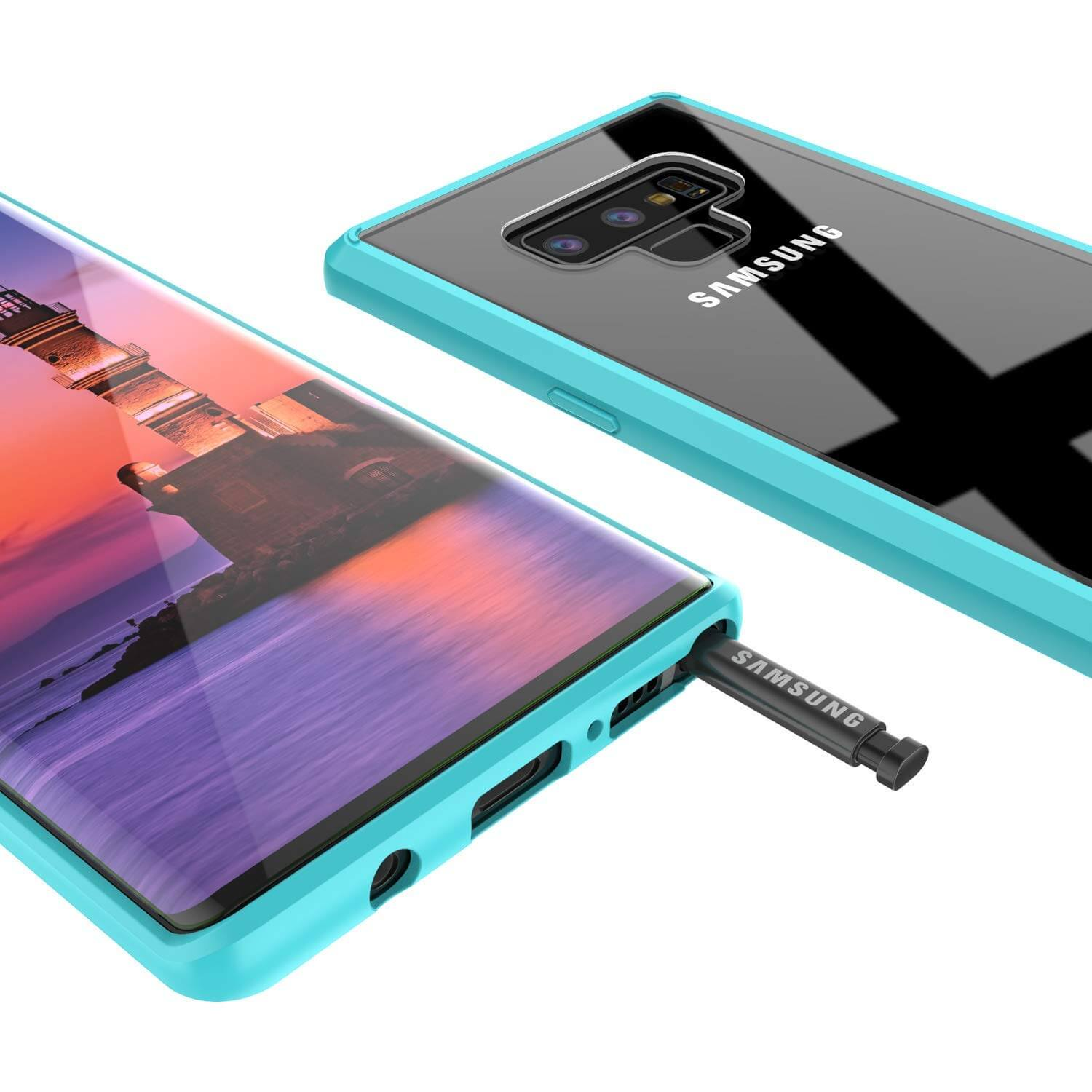 Galaxy Note 9 Punkcase Lucid-2.0 Series Slim Fit Armor Teal Case Cover
