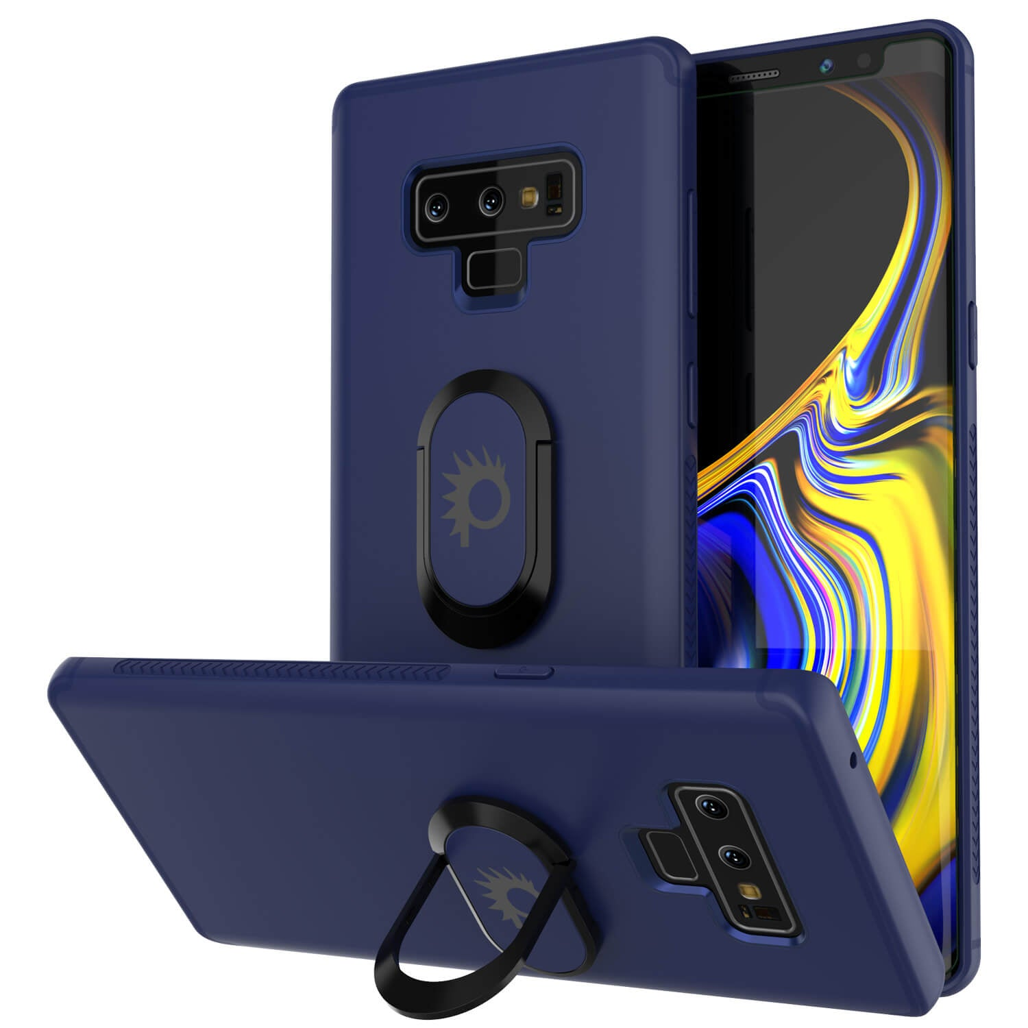 Galaxy Note 9 Case, Punkcase Magnetix  Protective TPU Cover W/ Tempered Glass Screen Protector & Kickstand [blue]