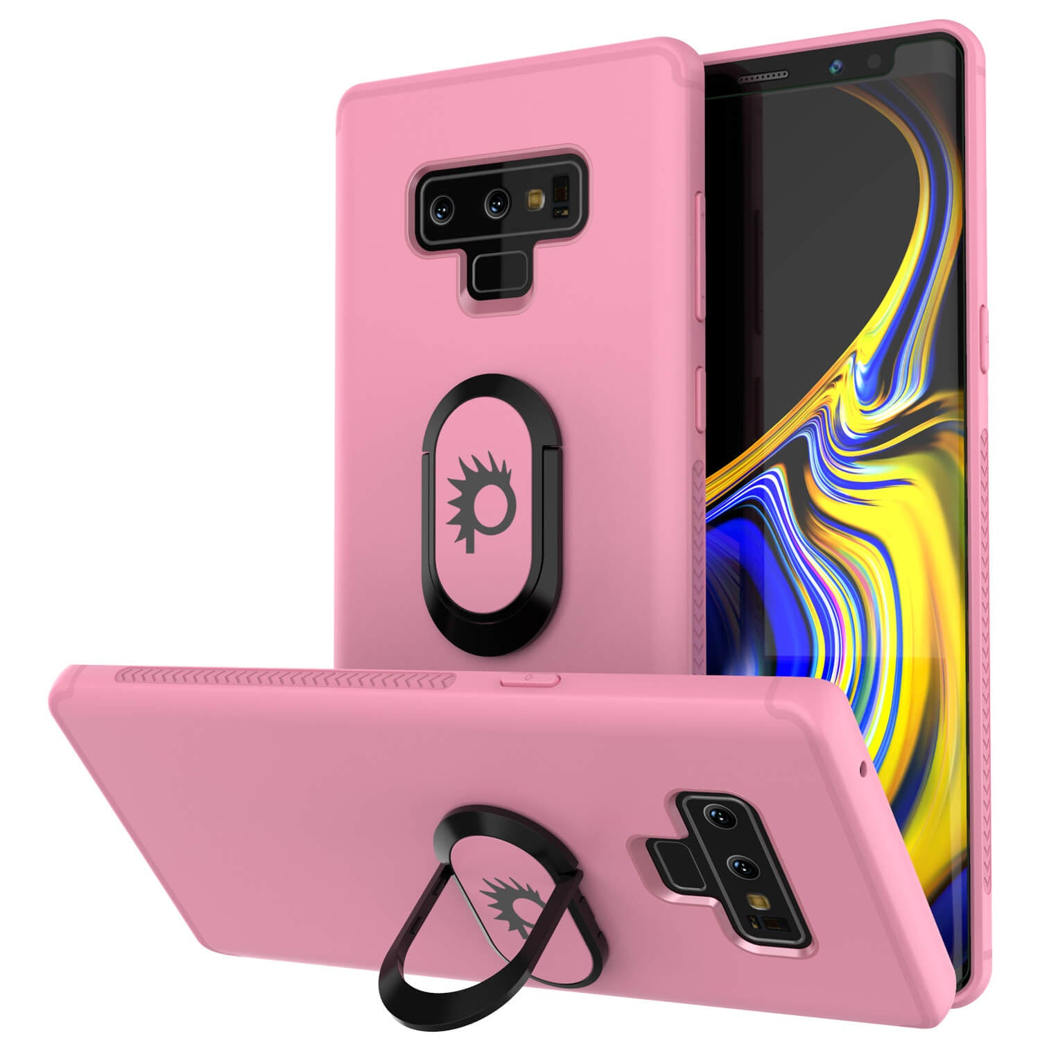 Galaxy Note 9 Case, Punkcase Magnetix  Protective TPU Cover W/ Tempered Glass Screen Protector & Kickstand [pink]