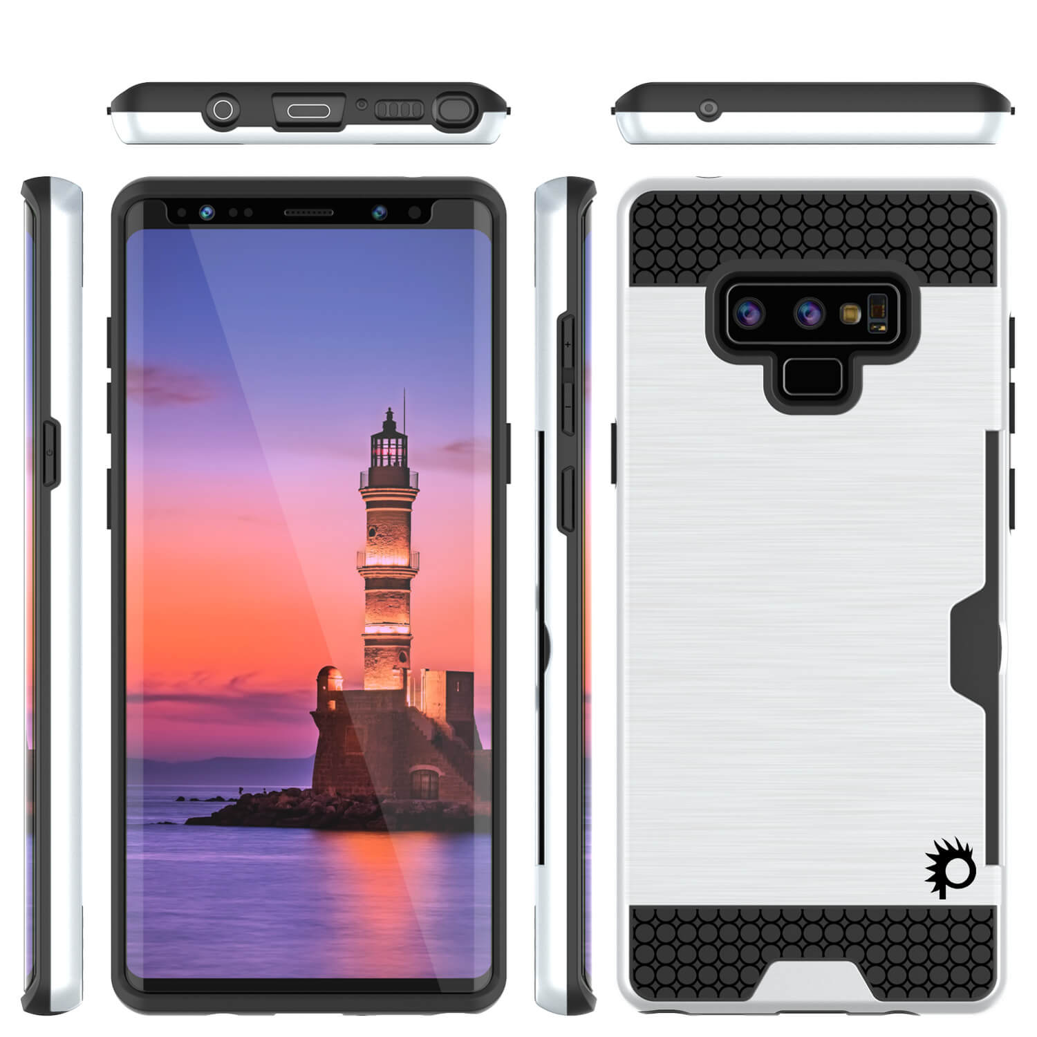 Galaxy Note 9 Case, PUNKcase [SLOT Series] Slim Fit  Samsung Note 9 [White]
