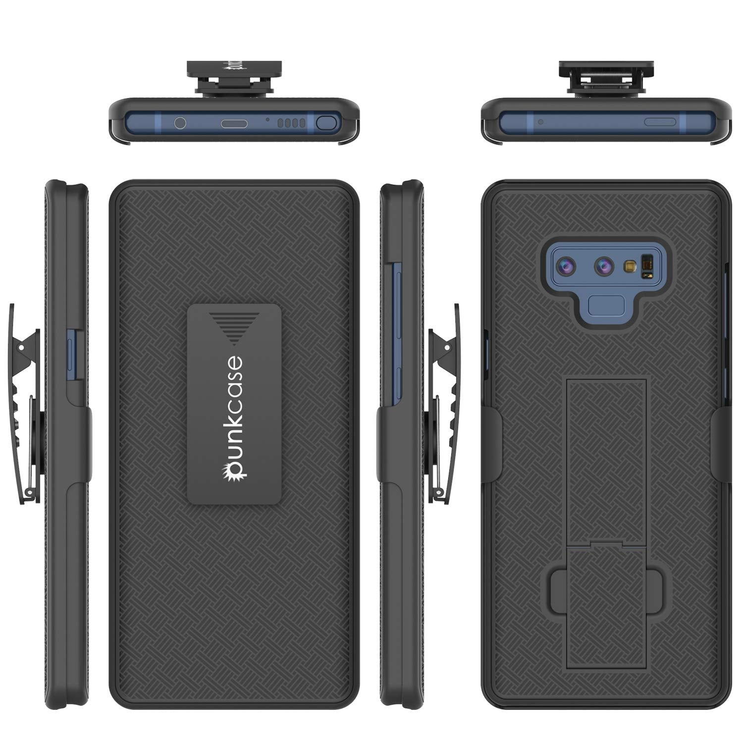 new product 339e1 21cbf PunkCase Galaxy Note 9 Case with Screen Protector, Holster Belt Clip &