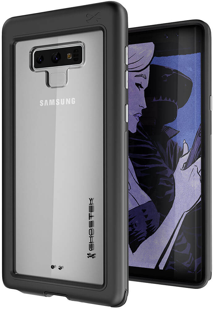 newest bcd2a 93935 Galaxy Note 9, Ghostek Atomic Slim Case Full Body TPU [Shockproof] | Black