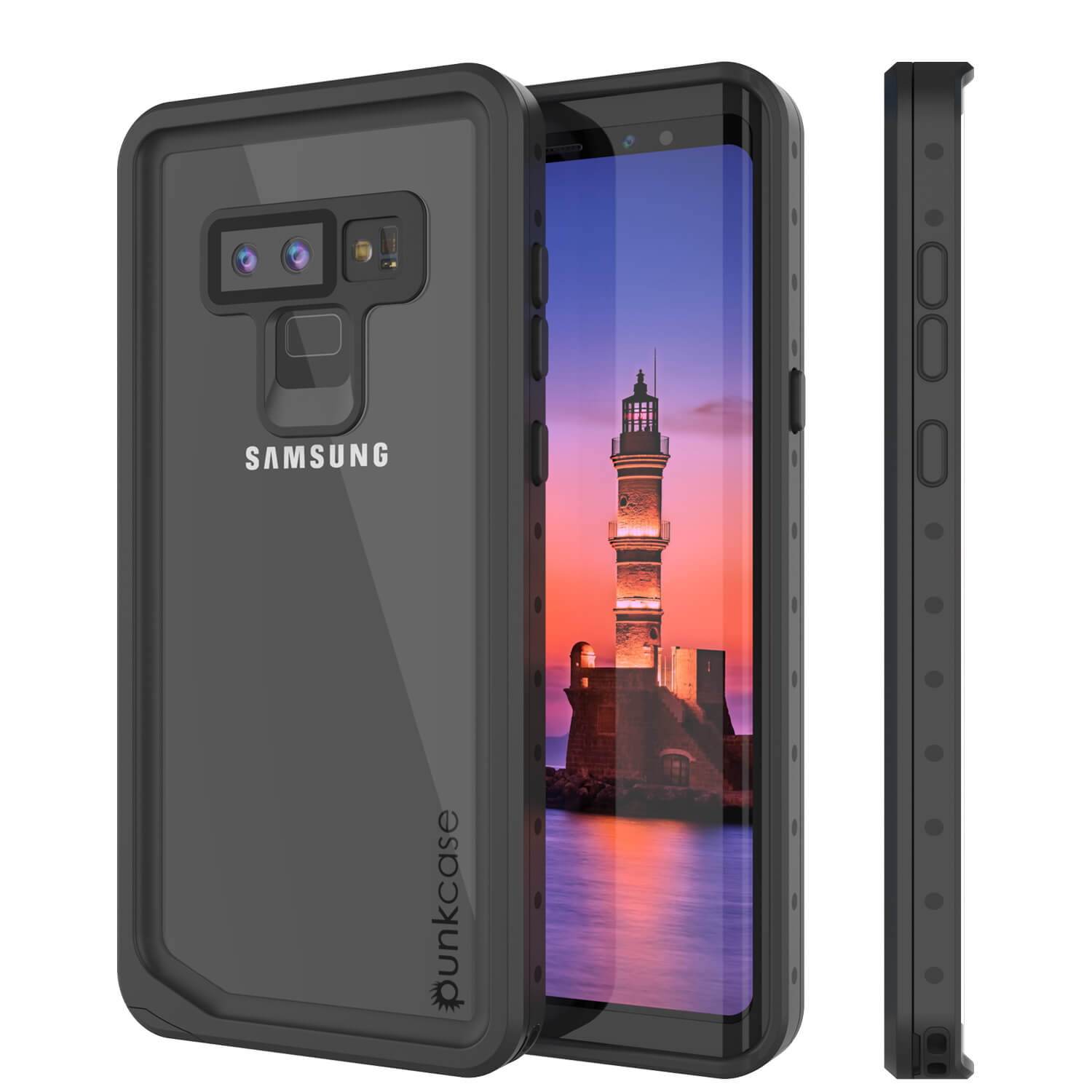 Galaxy Note 9 Waterproof Case, Punkcase Studstar Clear Thin Armor Cover