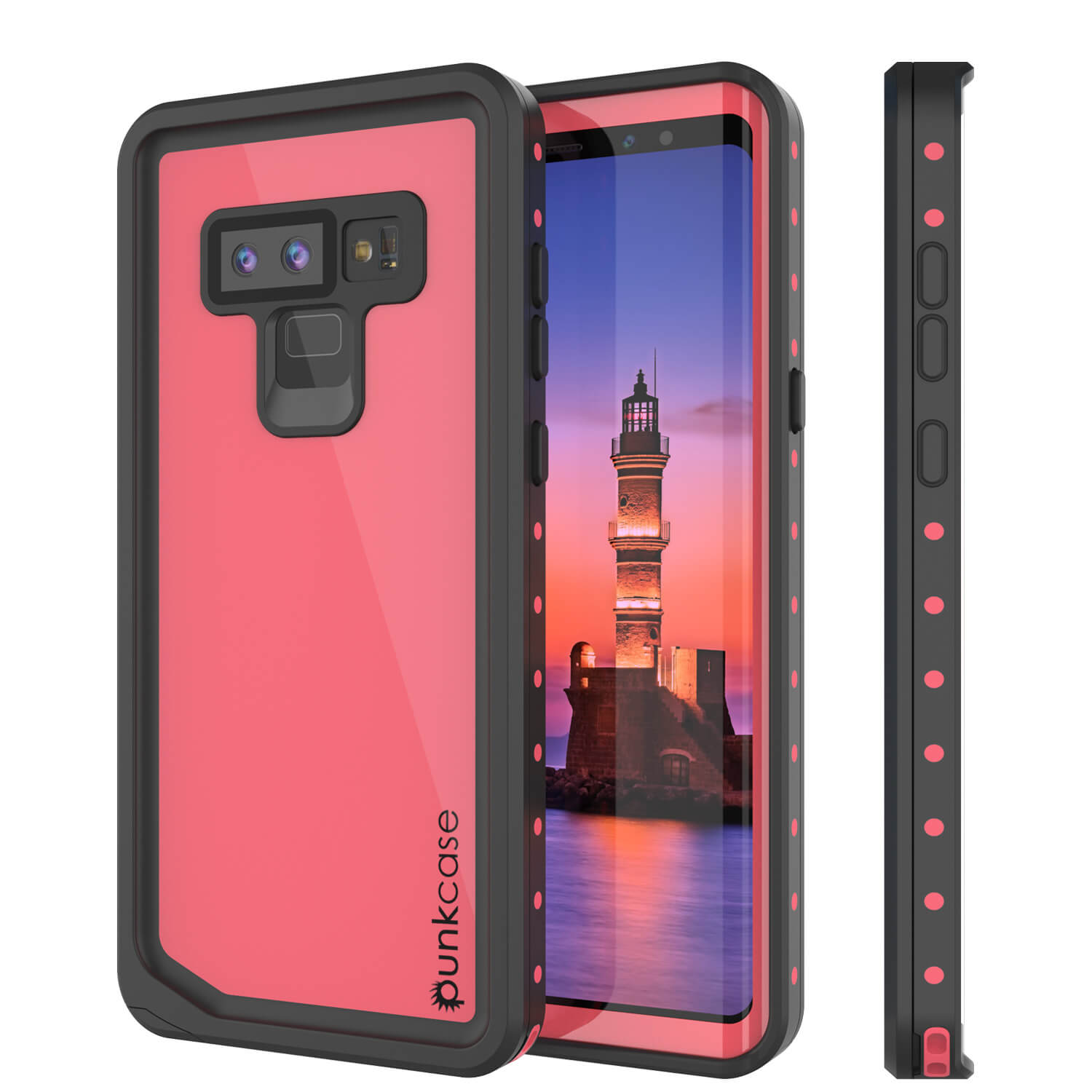 Galaxy Note 9 Waterproof Case, Punkcase Studstar Pink Thin Armor Cover