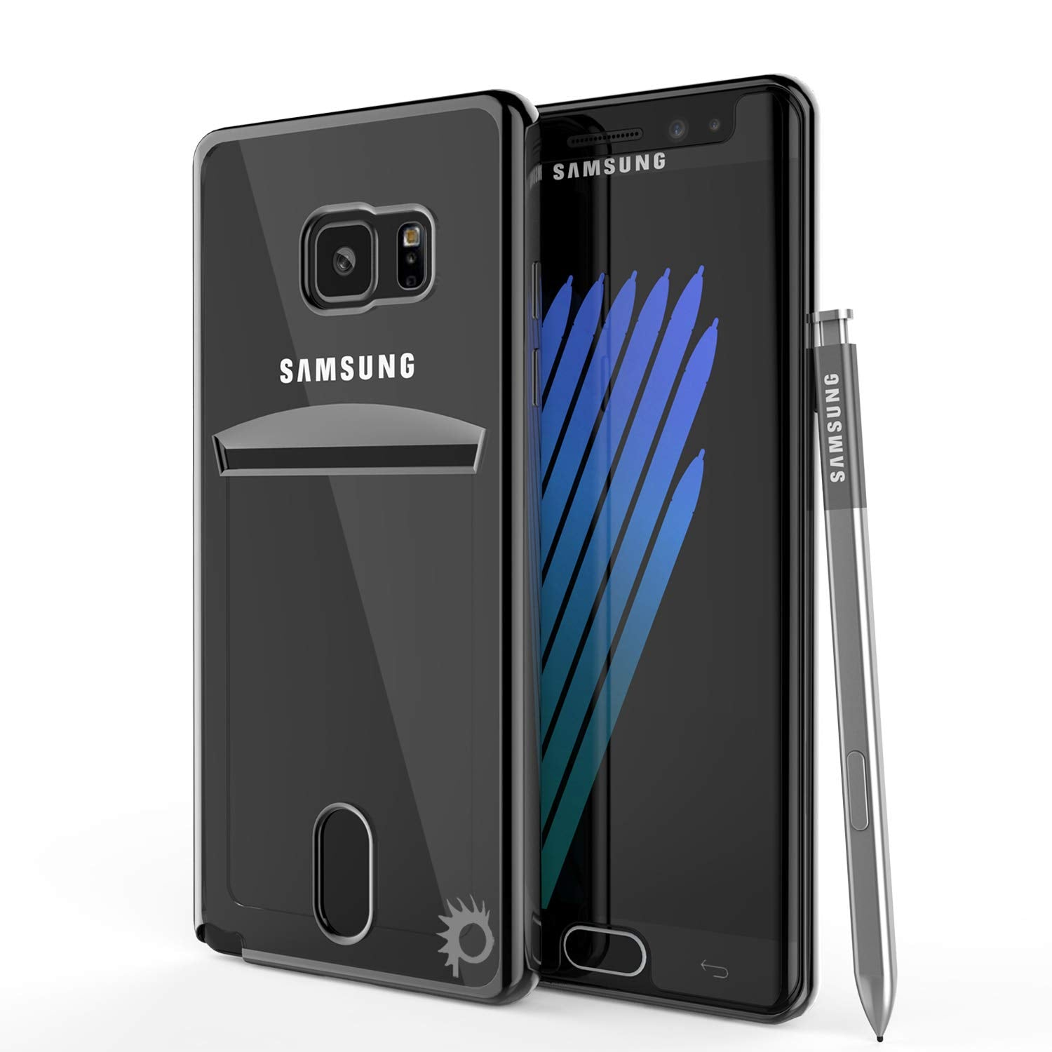 Galaxy Note FE Case, PUNKCASE® LUCID Black Series | Card Slot | SHIELD Screen Protector | Ultra fit