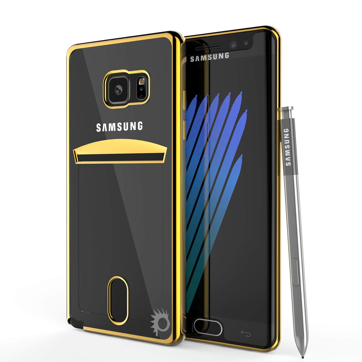 Galaxy Note FE Case, PUNKCASE® LUCID Gold Series | Card Slot | SHIELD Screen Protector | Ultra fit