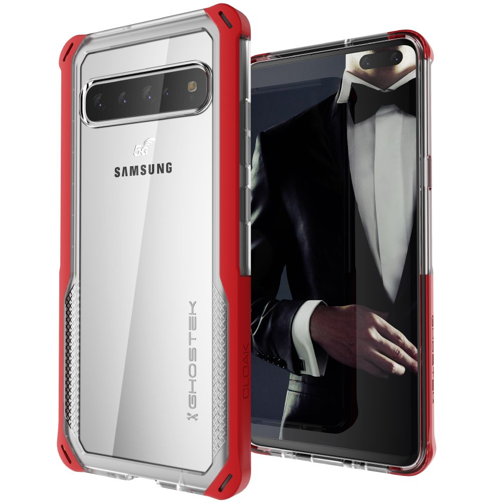 CLOAK 4 for Galaxy S10 5G Shockproof Hybrid Case [Red]