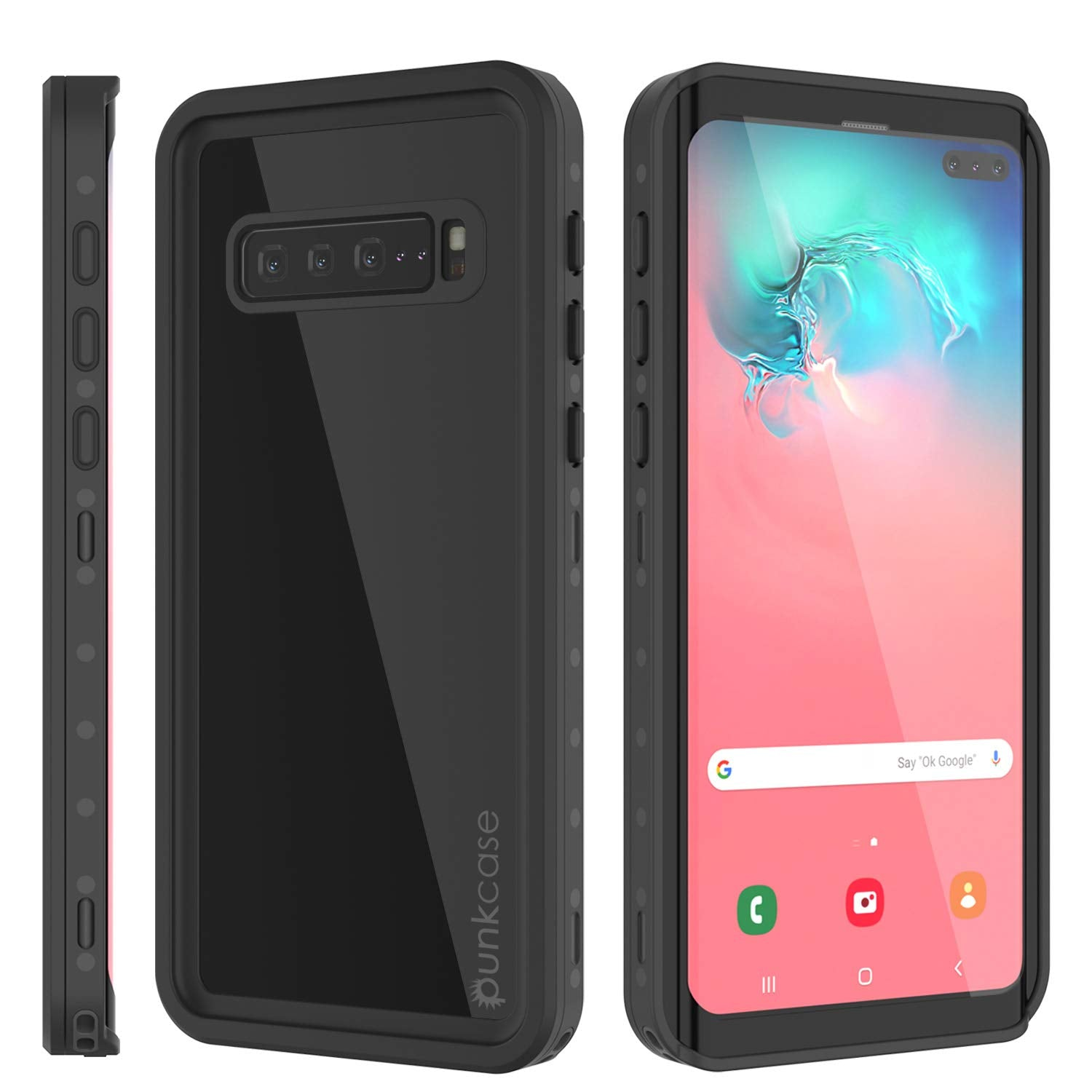 Galaxy S10 5G Waterproof Case PunkCase StudStar Black Thin 6.6ft Underwater IP68 Shock/Snow Proof