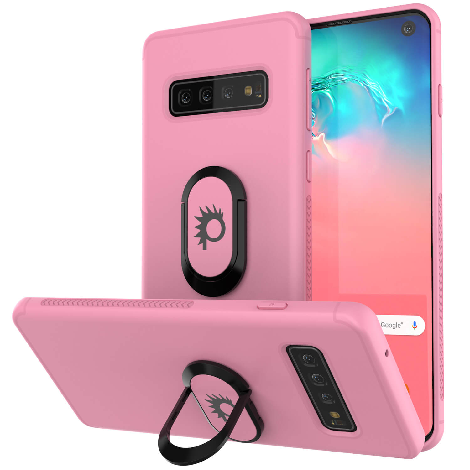 Galaxy S10 Case, Punkcase Magnetix Protective TPU Cover W/ Kickstand, Sceen Protector[Pink]