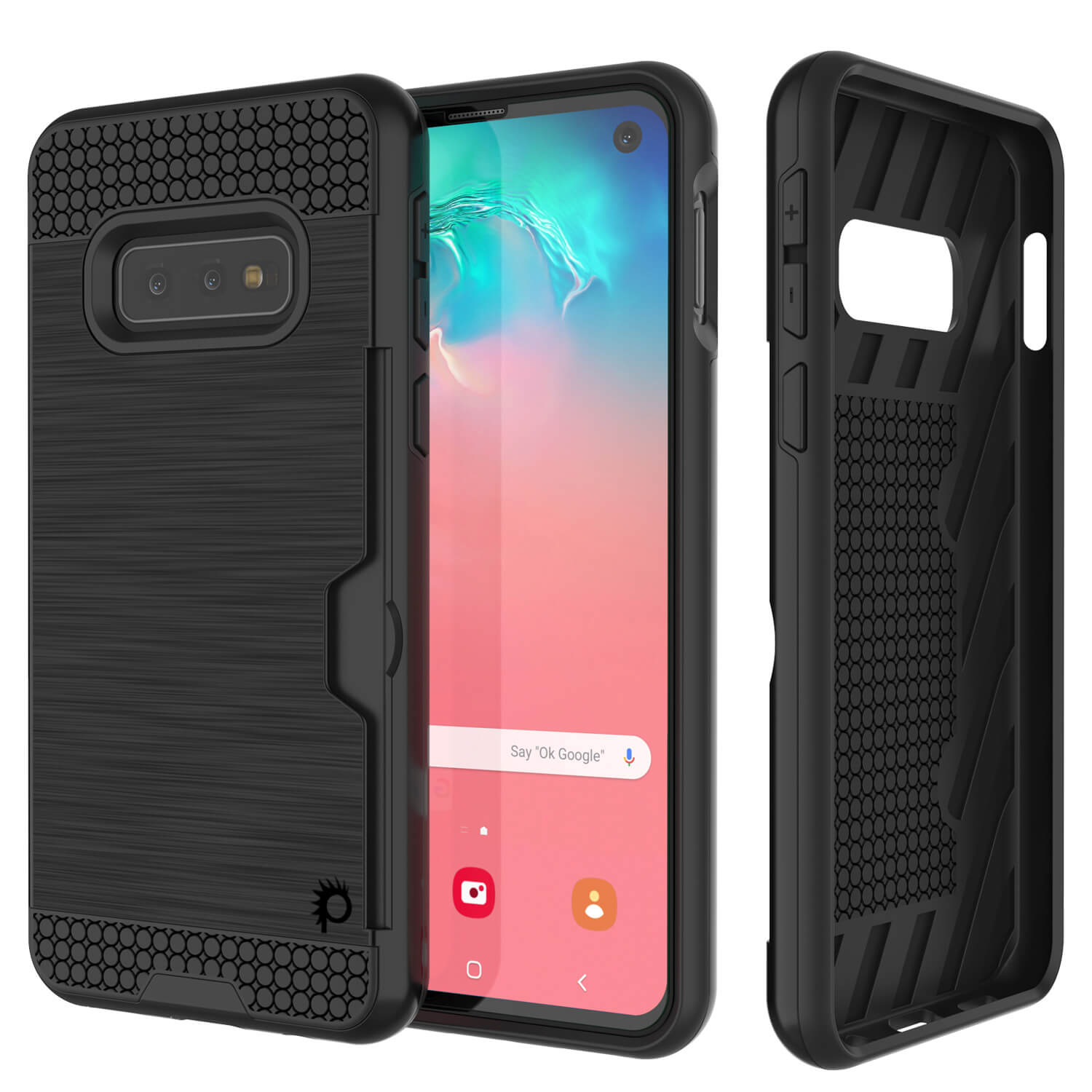 Galaxy S10 Lite Case, PUNKcase [SLOT Series] [Slim Fit] Dual-Layer Armor Cover w/Integrated Anti-Shock System, Credit Card Slot [Black]