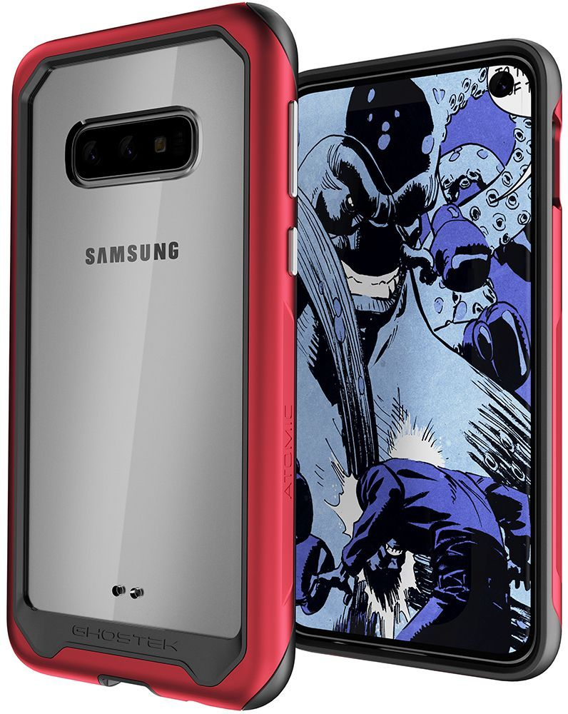 Galaxy S10e Military Grade Aluminum Case | Atomic Slim 2 Series [Red]