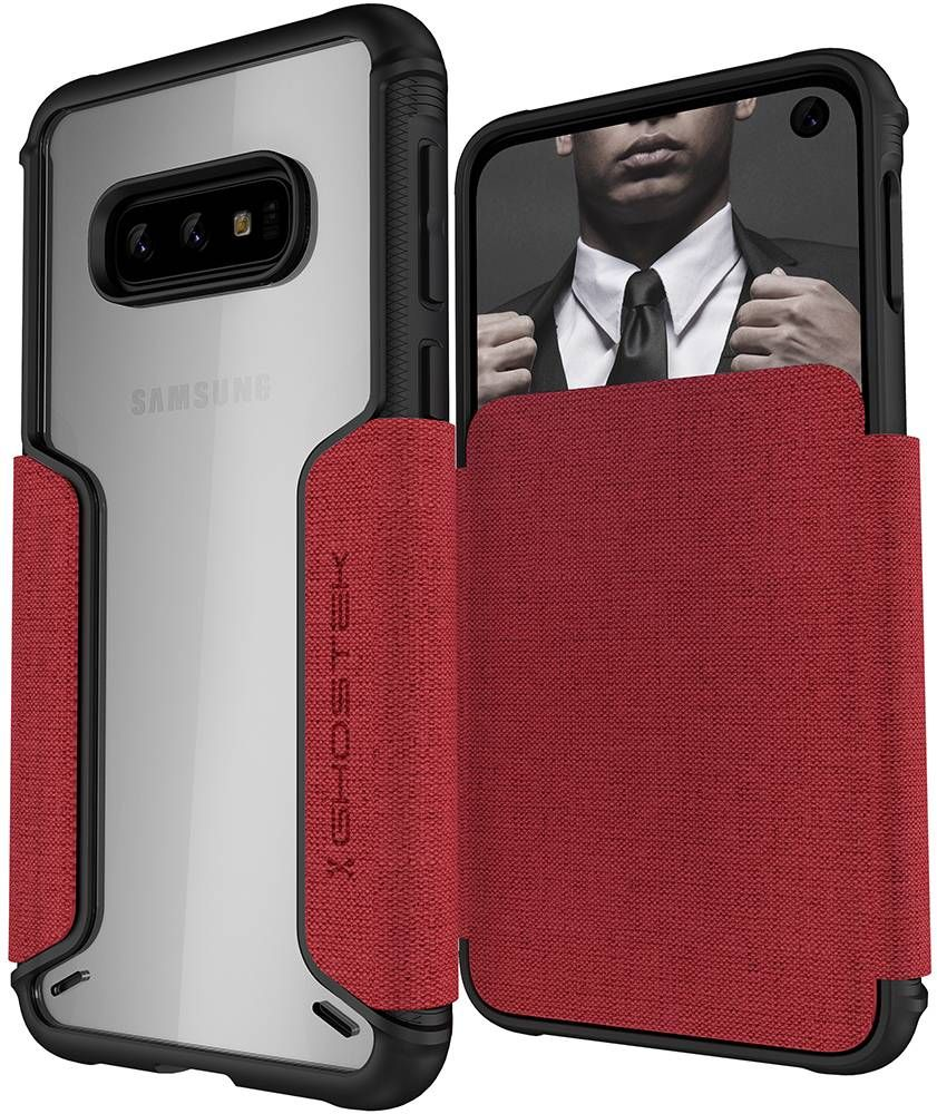 Galaxy S10e Wallet Case | Exec 3 Series [Red]